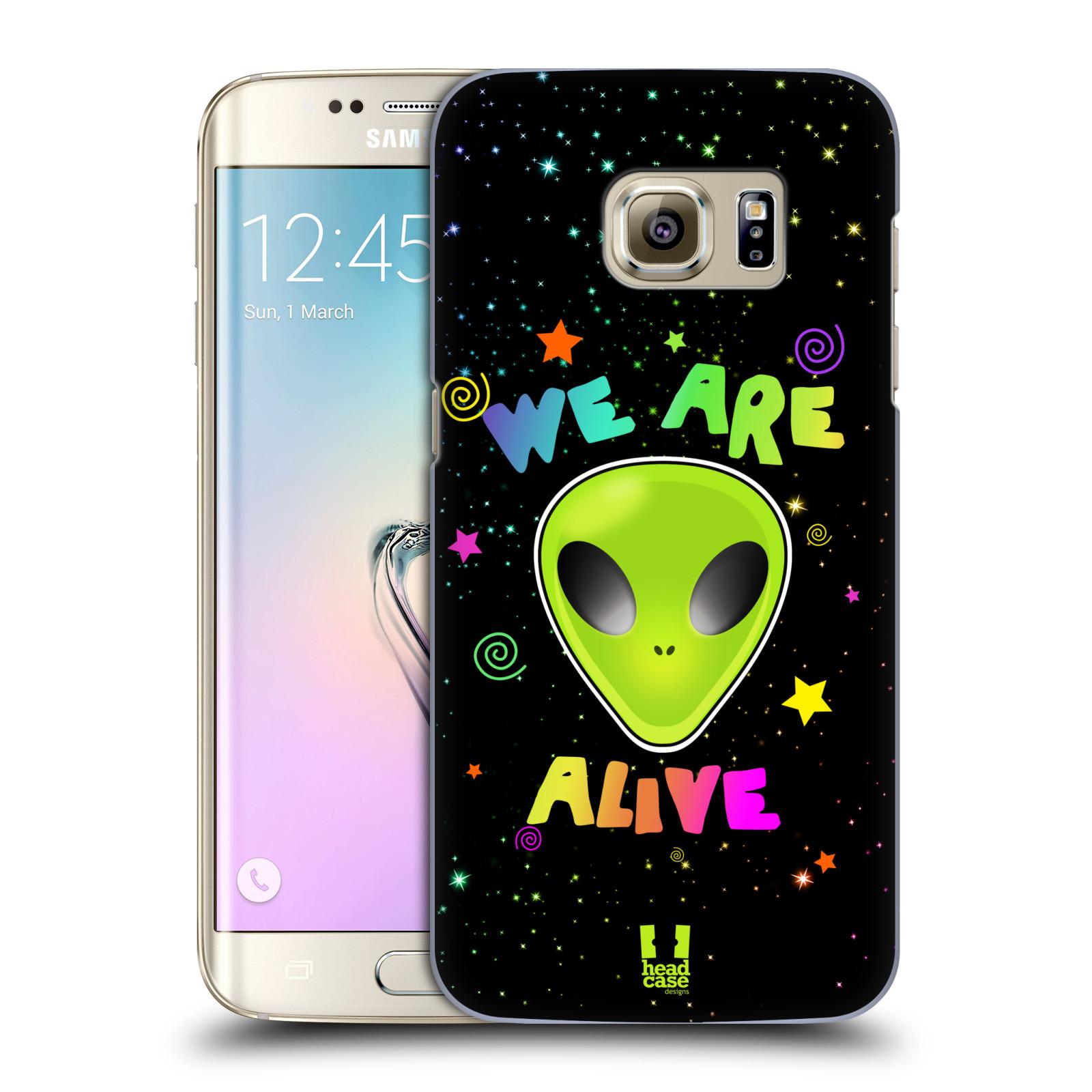 Plastové pouzdro na mobil Samsung Galaxy S7 Edge HEAD CASE ALIENS ALIVE