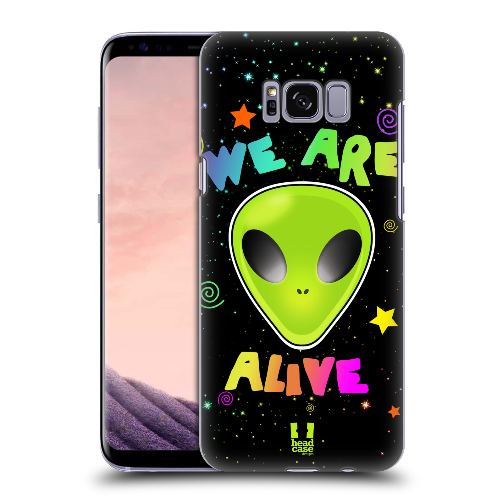Plastové pouzdro na mobil Samsung Galaxy S8 Head Case ALIENS ALIVE