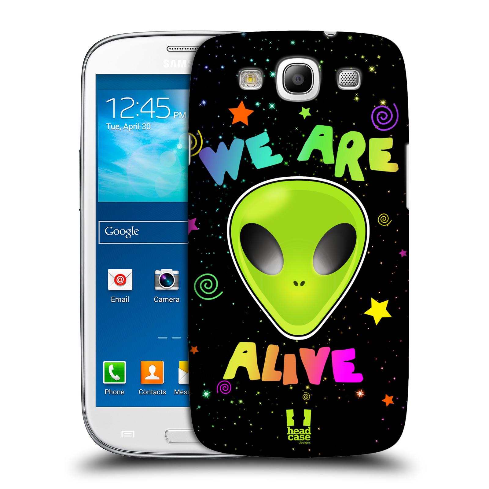 Plastové pouzdro na mobil Samsung Galaxy S III HEAD CASE ALIENS ALIVE