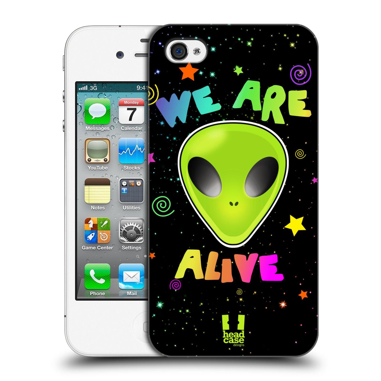 Plastové pouzdro na mobil Apple iPhone 4 a 4S HEAD CASE ALIENS ALIVE