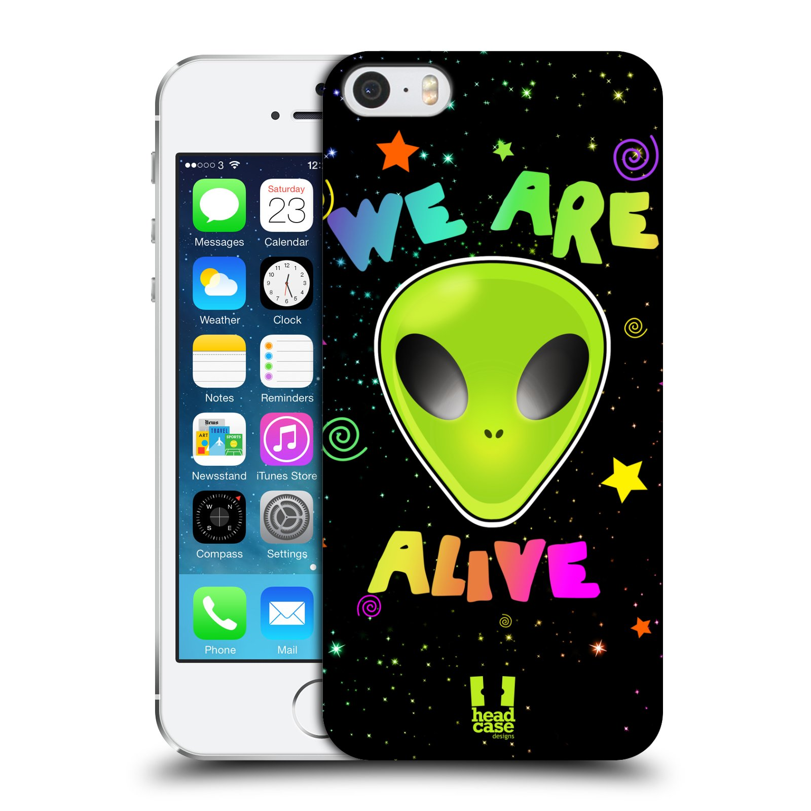 Plastové pouzdro na mobil Apple iPhone SE, 5 a 5S HEAD CASE ALIENS ALIVE