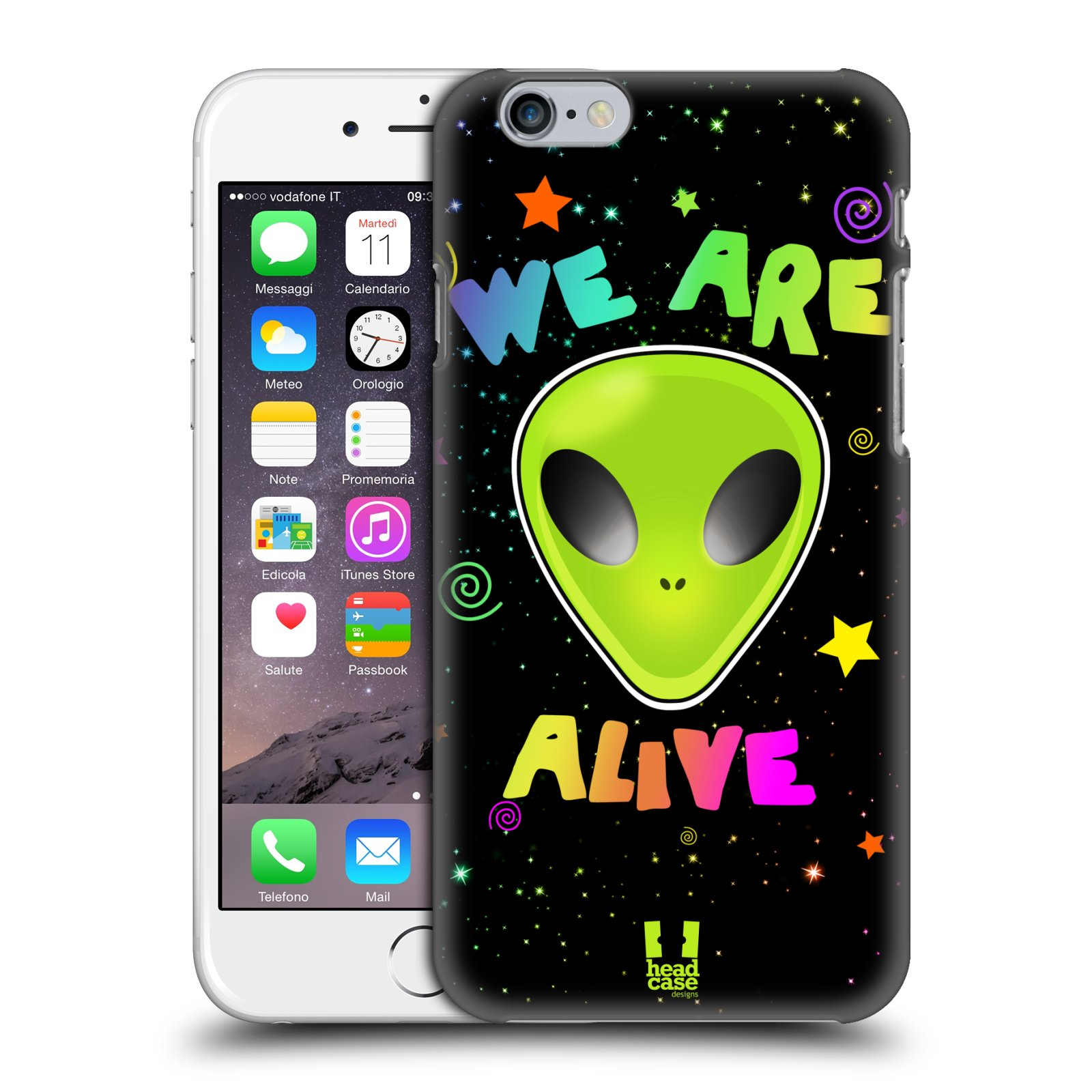 Plastové pouzdro na mobil Apple iPhone 6 a 6S HEAD CASE ALIENS ALIVE