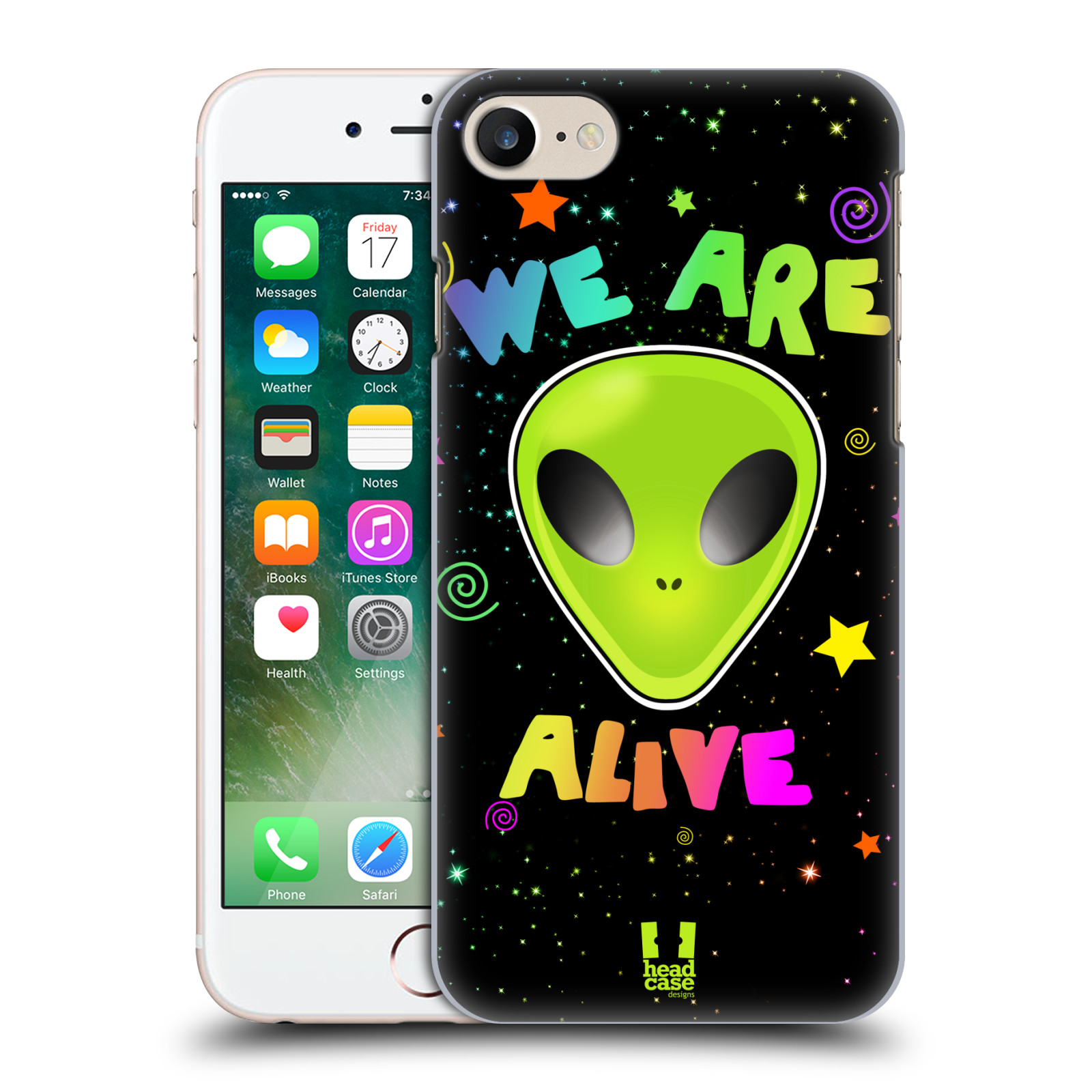 Plastové pouzdro na mobil Apple iPhone 7 HEAD CASE ALIENS ALIVE