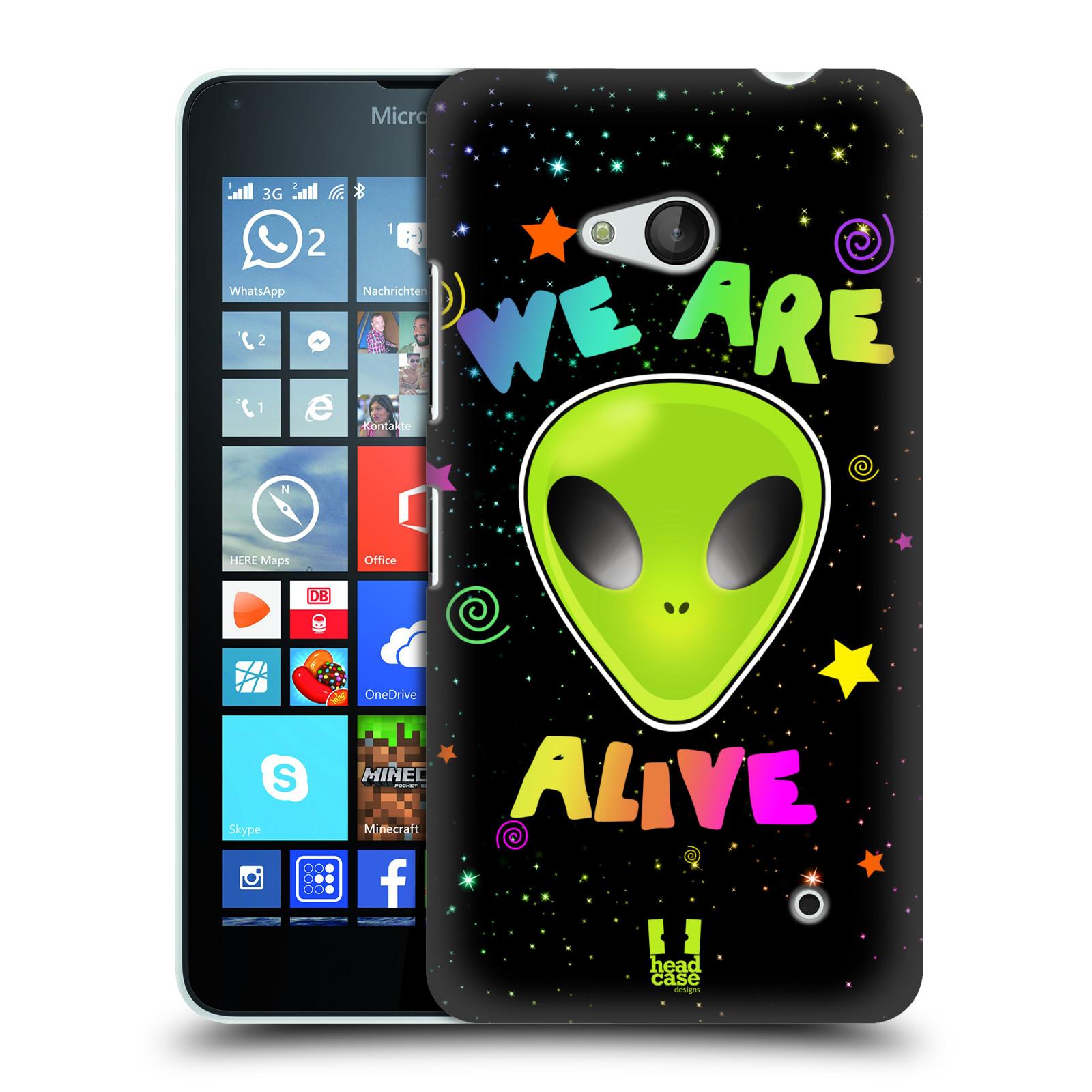 Plastové pouzdro na mobil Microsoft Lumia 640 HEAD CASE ALIENS ALIVE