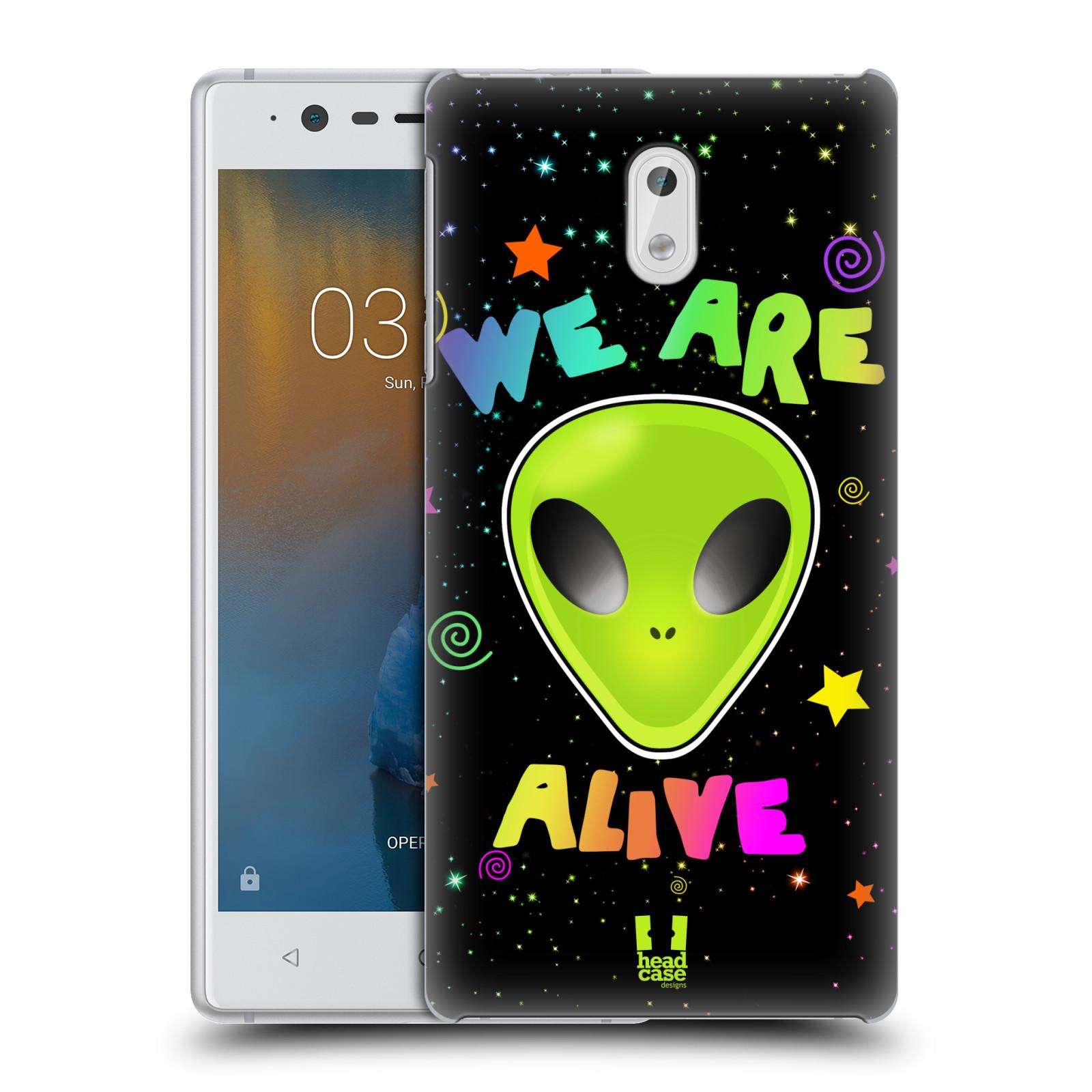 Plastové pouzdro na mobil Nokia 3 Head Case - ALIENS ALIVE