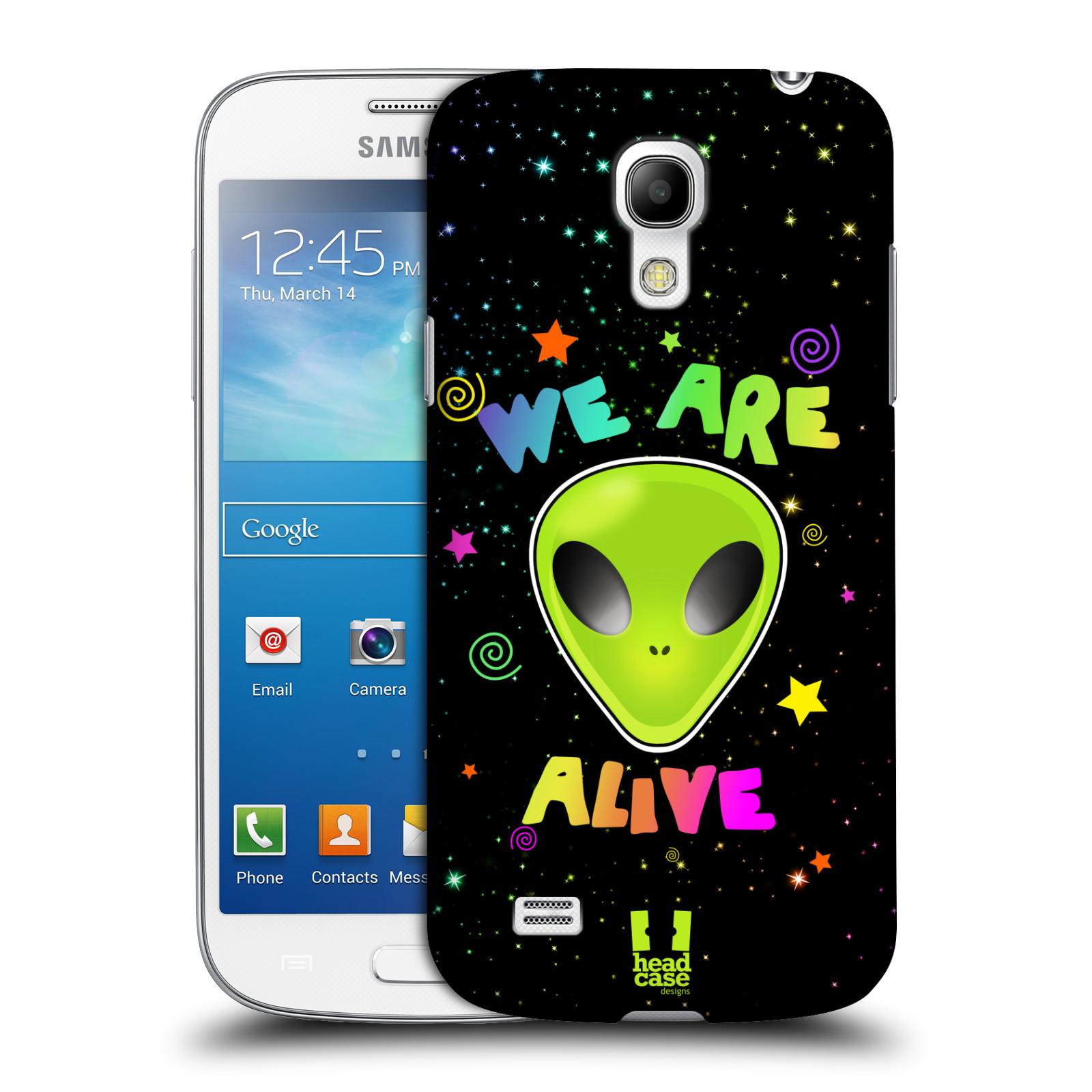 Plastové pouzdro na mobil Samsung Galaxy S4 Mini HEAD CASE ALIENS ALIVE