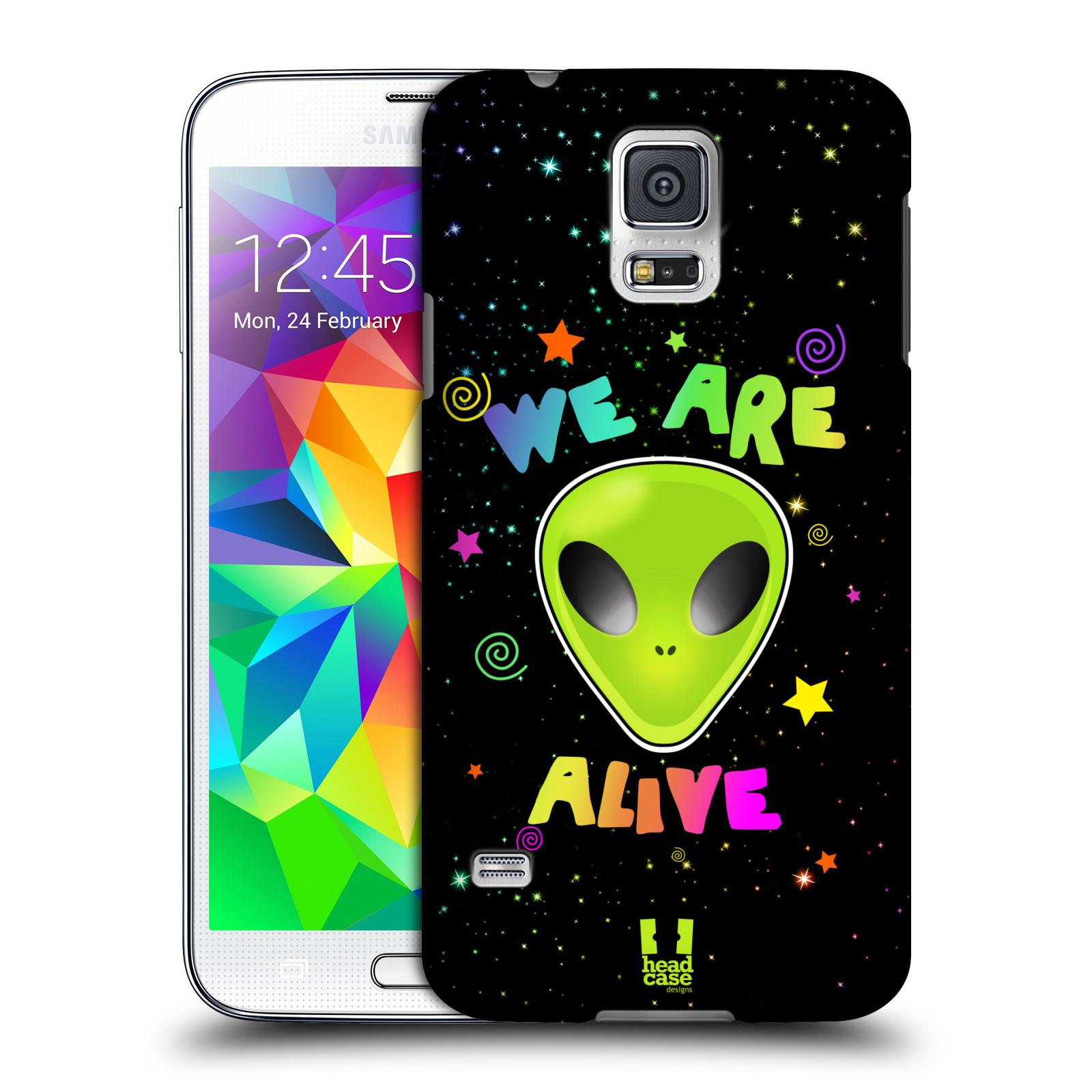 Plastové pouzdro na mobil Samsung Galaxy S5 HEAD CASE ALIENS ALIVE