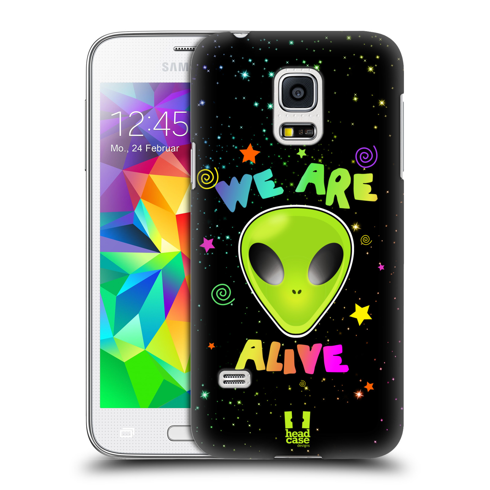 Plastové pouzdro na mobil Samsung Galaxy S5 Mini HEAD CASE ALIENS ALIVE