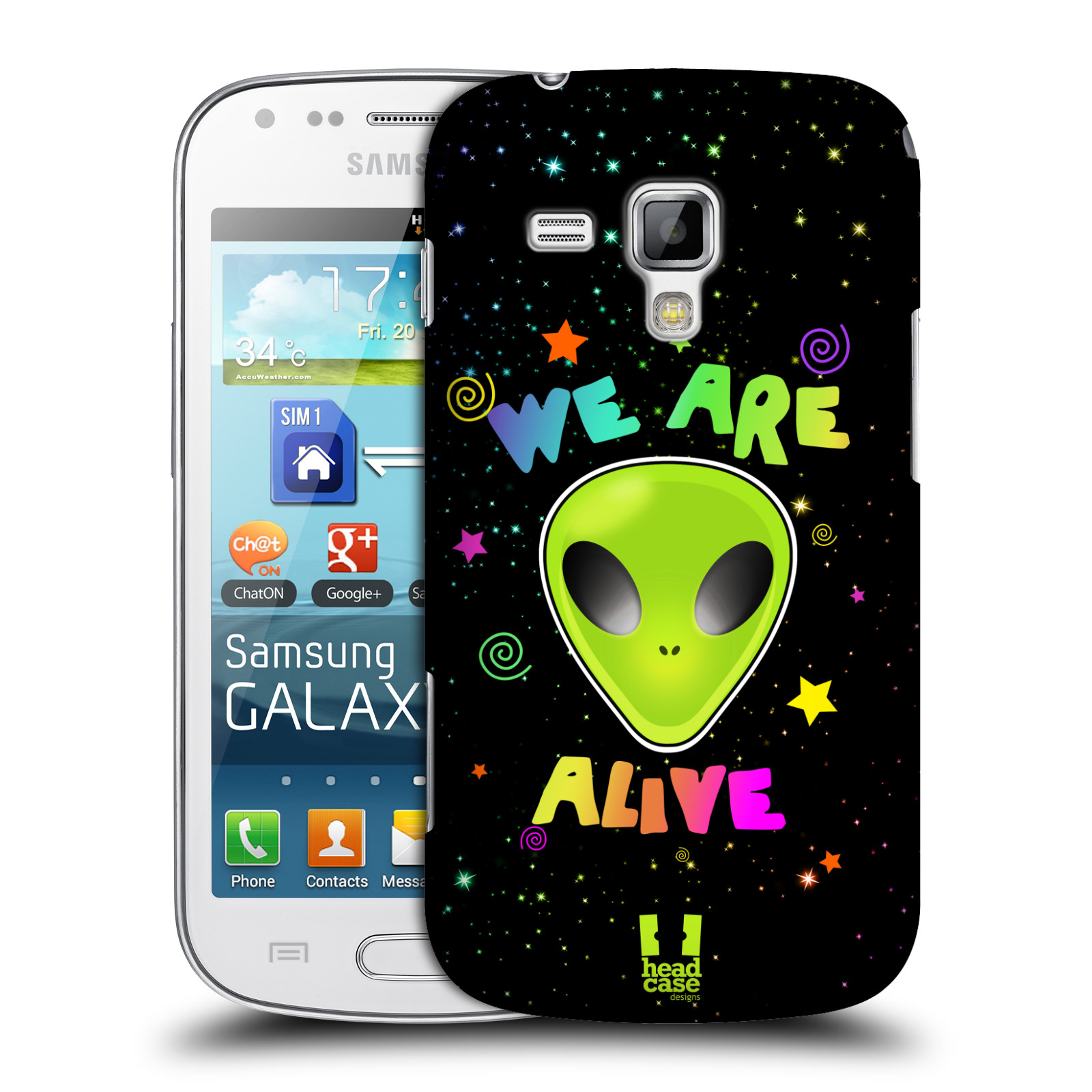 Plastové pouzdro na mobil Samsung Galaxy Trend HEAD CASE ALIENS ALIVE empty ac2bf7a7588