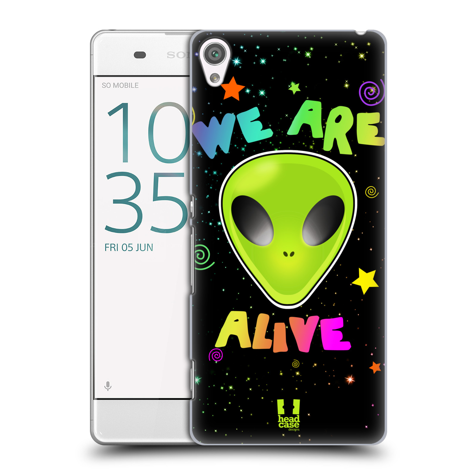 Plastové pouzdro na mobil Sony Xperia XA HEAD CASE ALIENS ALIVE
