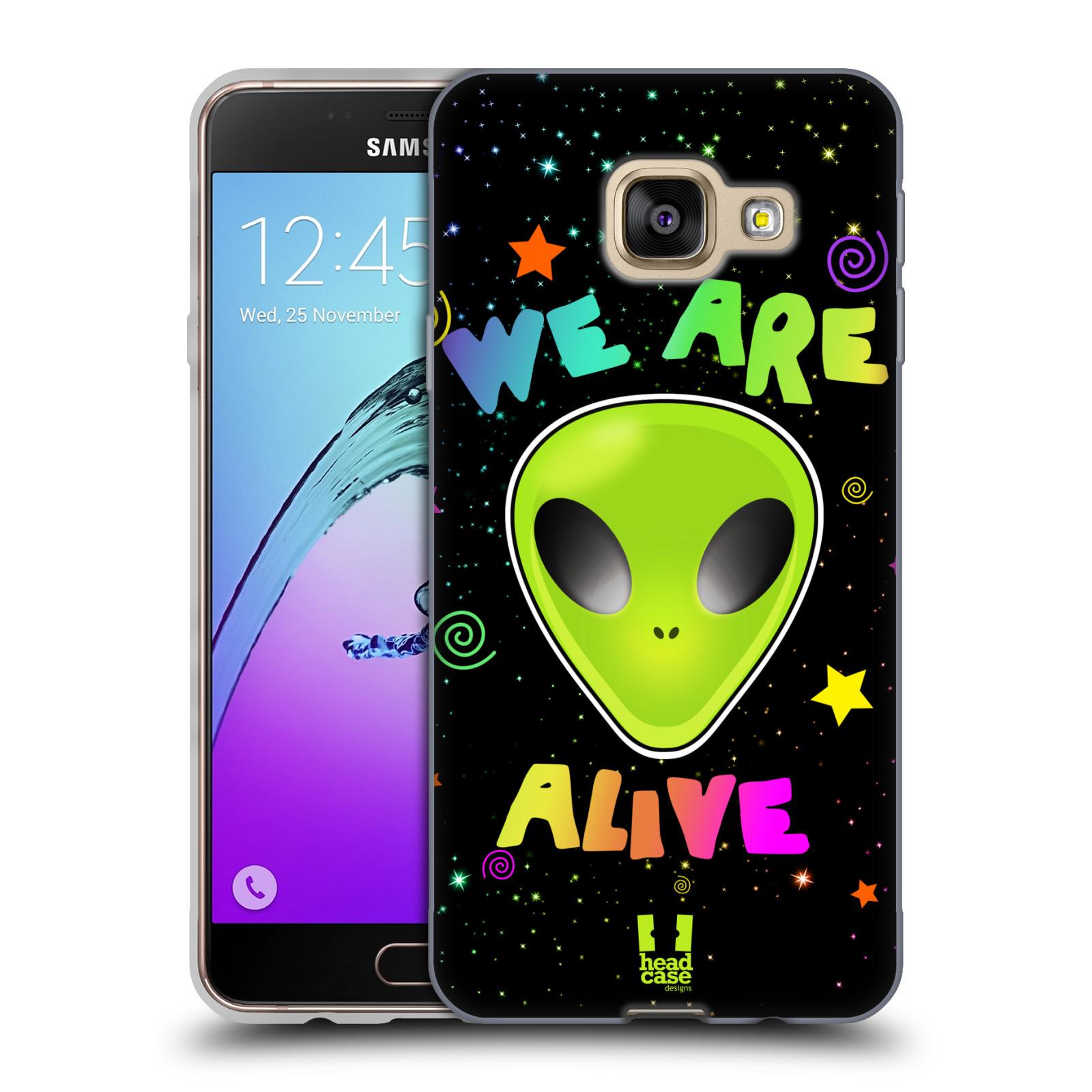 Silikonové pouzdro na mobil Samsung Galaxy A3 (2016) HEAD CASE ALIENS ALIVE