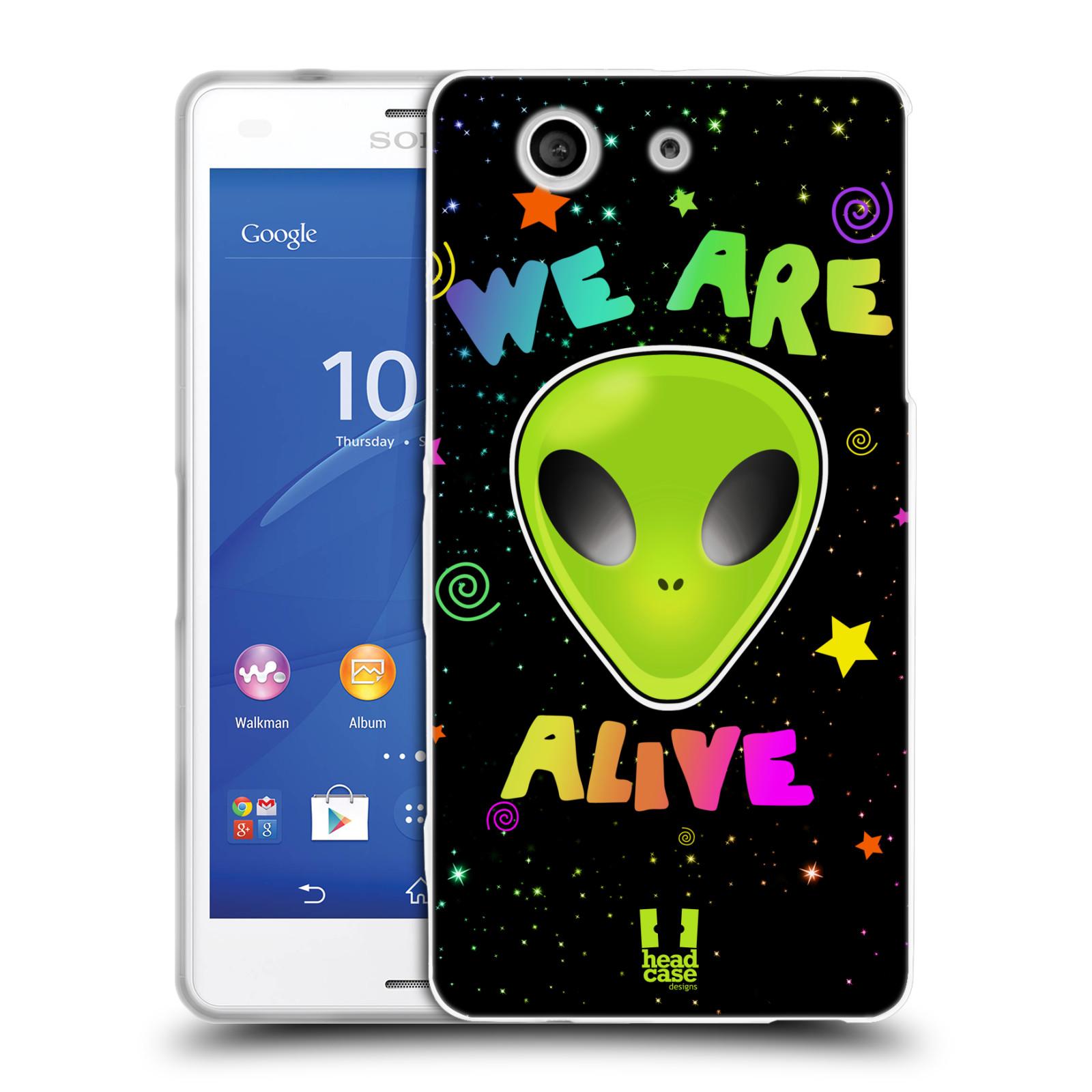 Silikonové pouzdro na mobil Sony Xperia Z3 Compact D5803 HEAD CASE ALIENS ALIVE