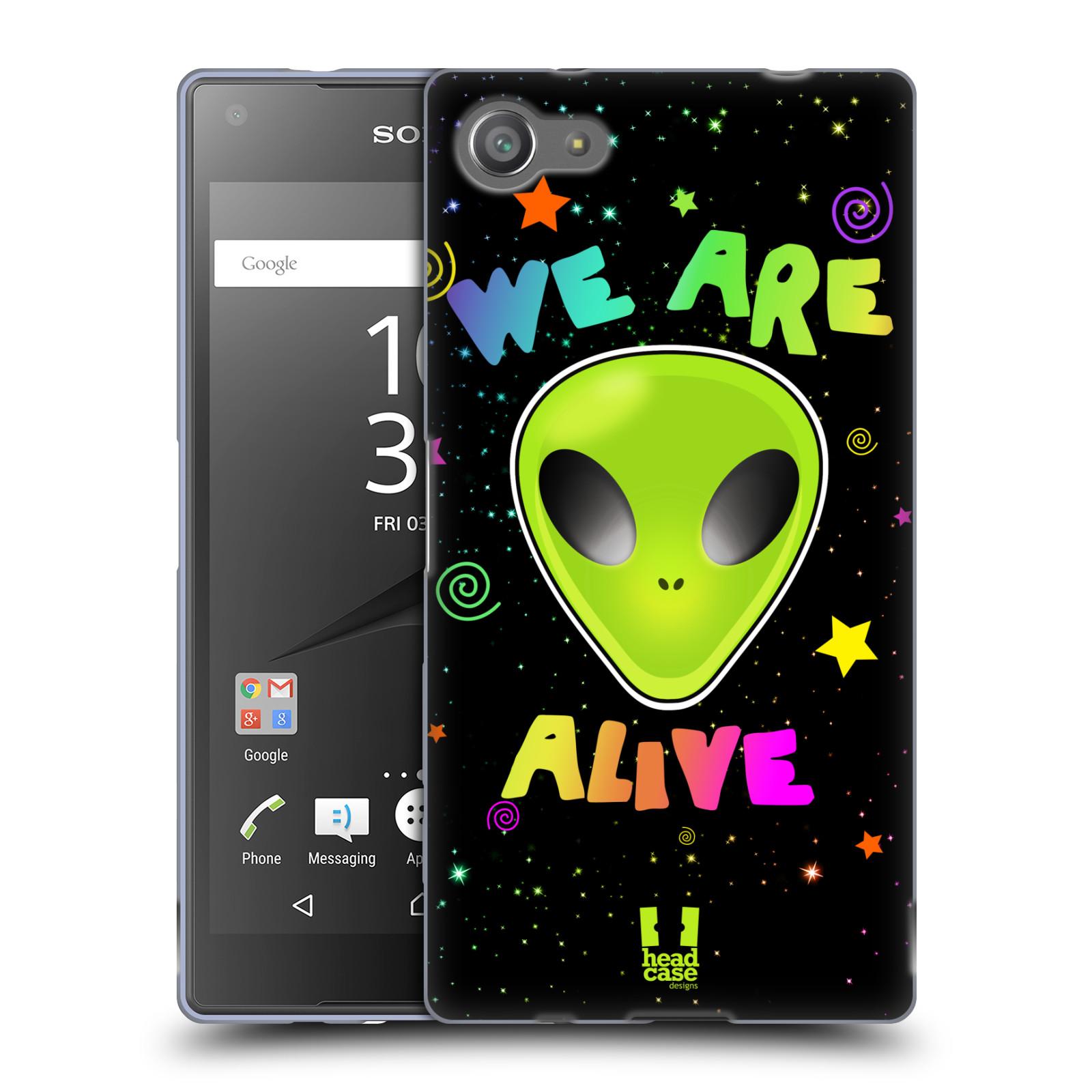 Silikonové pouzdro na mobil Sony Xperia Z5 Compact HEAD CASE ALIENS ALIVE