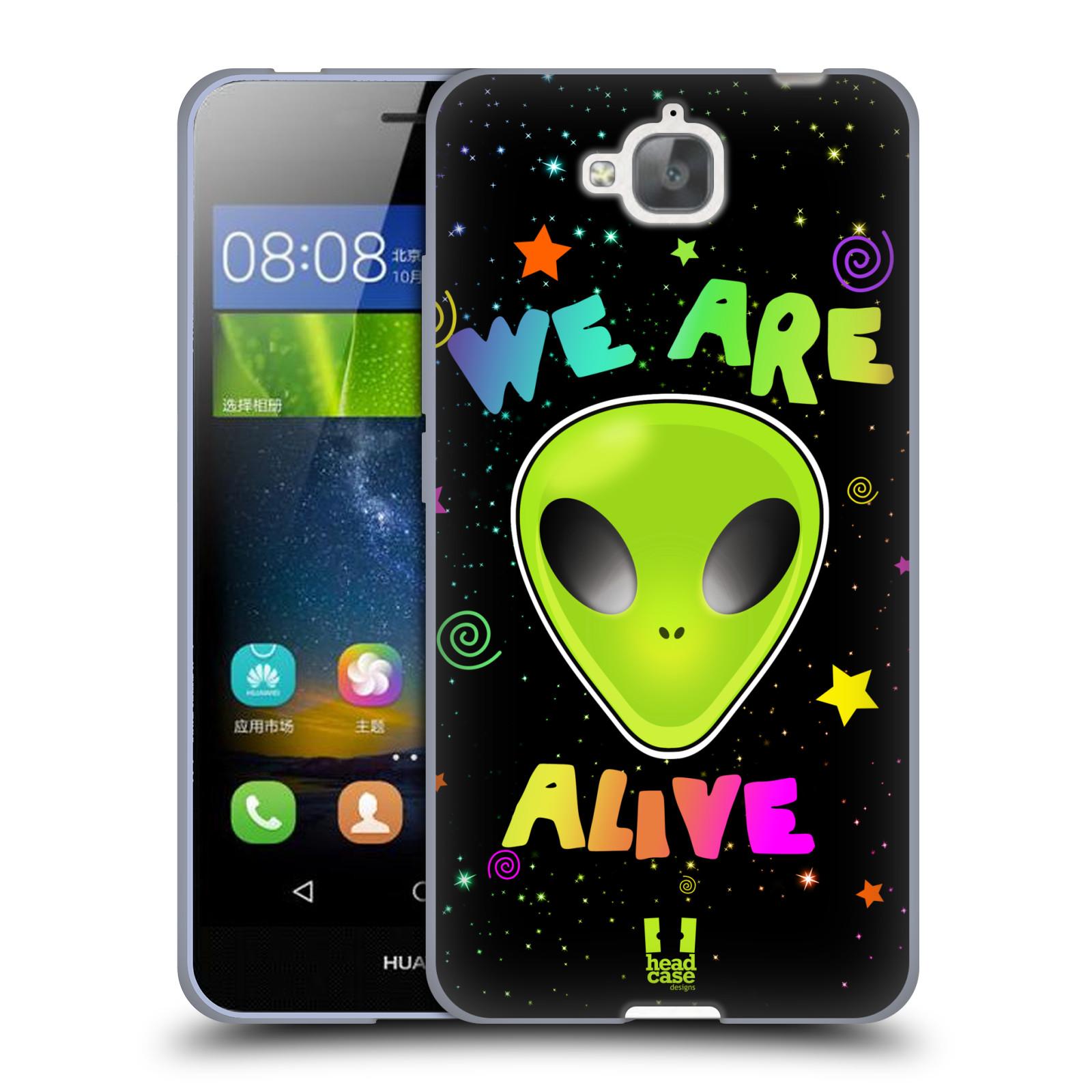 Silikonové pouzdro na mobil Huawei Y6 Pro Dual Sim HEAD CASE ALIENS ALIVE