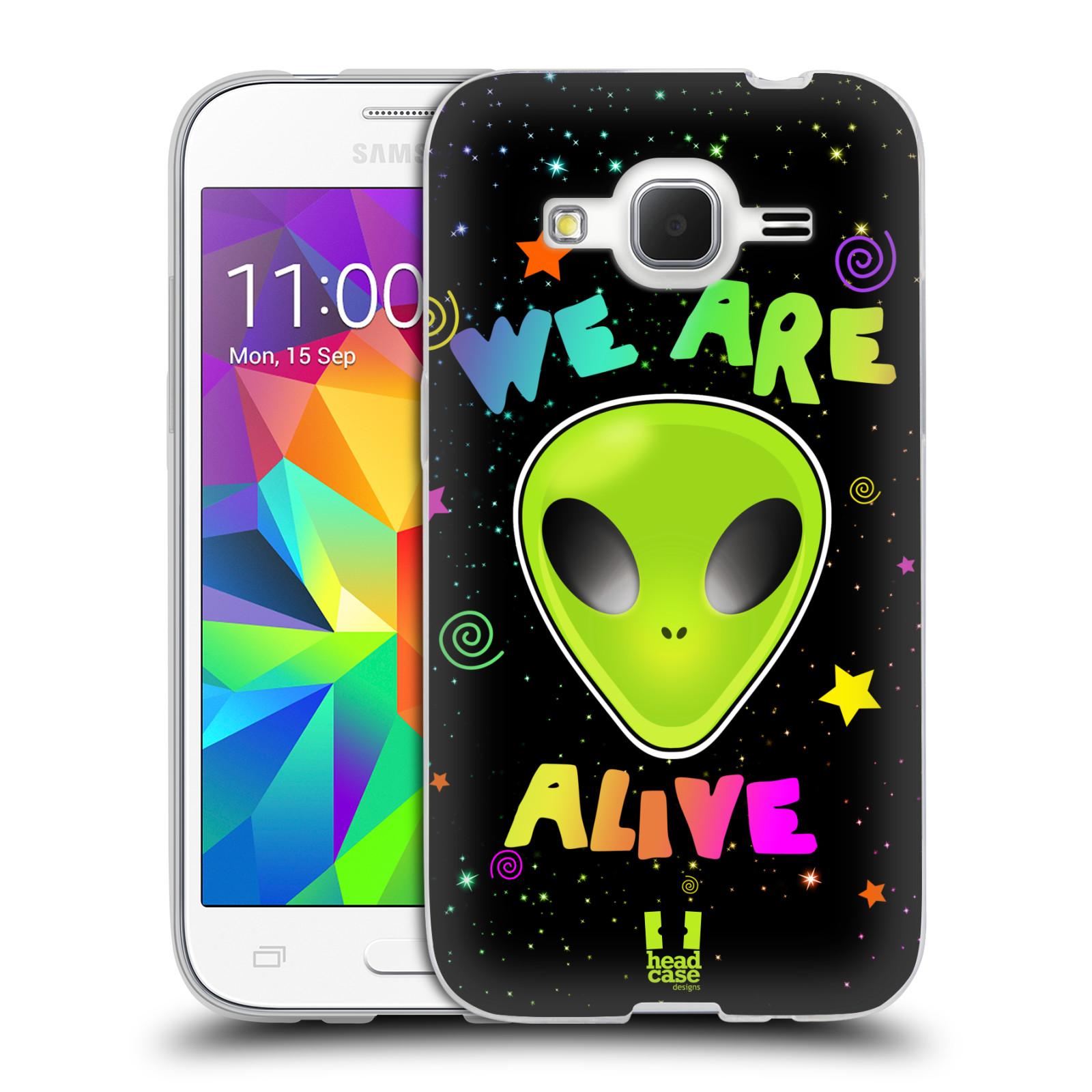 Silikonové pouzdro na mobil Samsung Galaxy Core Prime LTE HEAD CASE ALIENS ALIVE