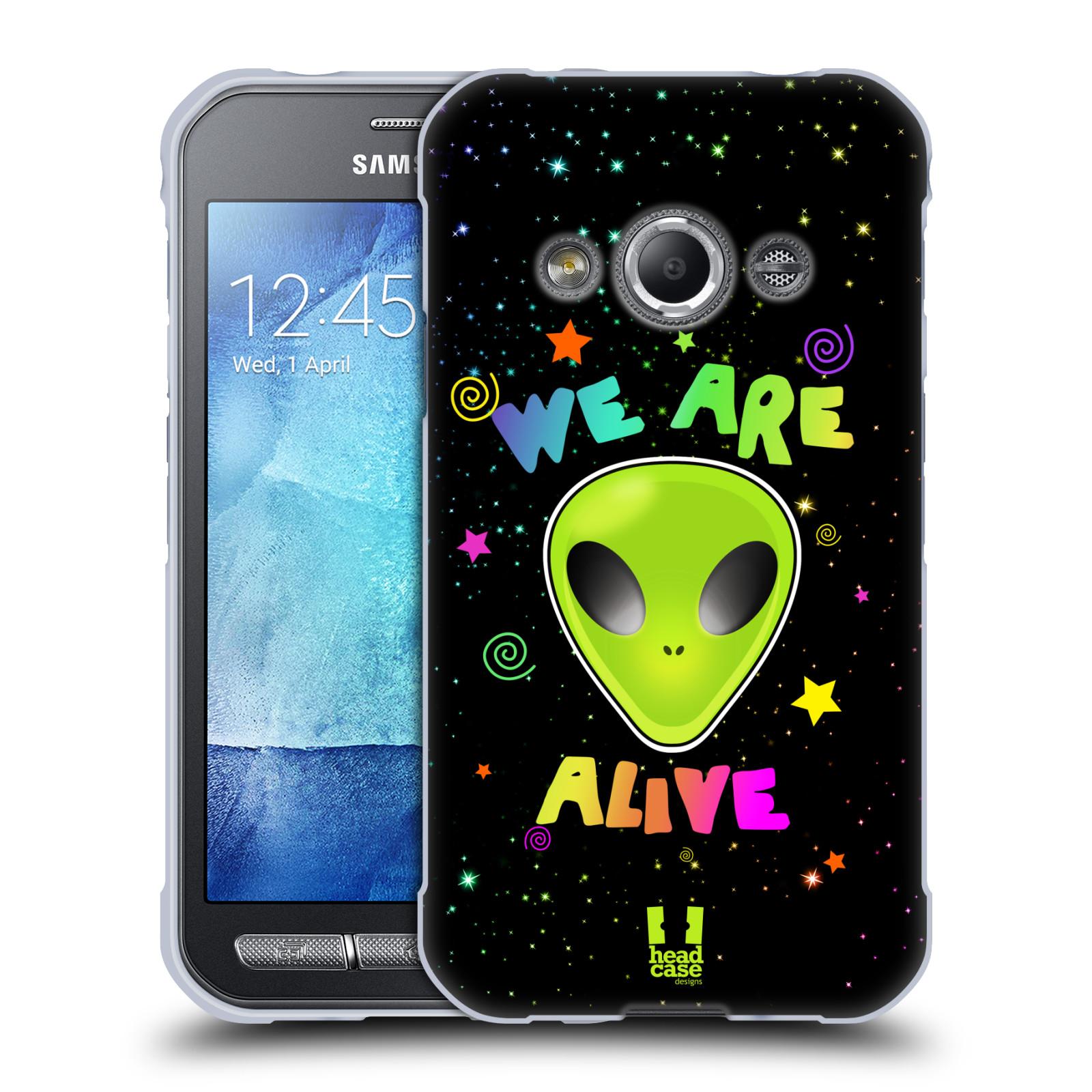 Silikonové pouzdro na mobil Samsung Galaxy Xcover 3 HEAD CASE ALIENS ALIVE