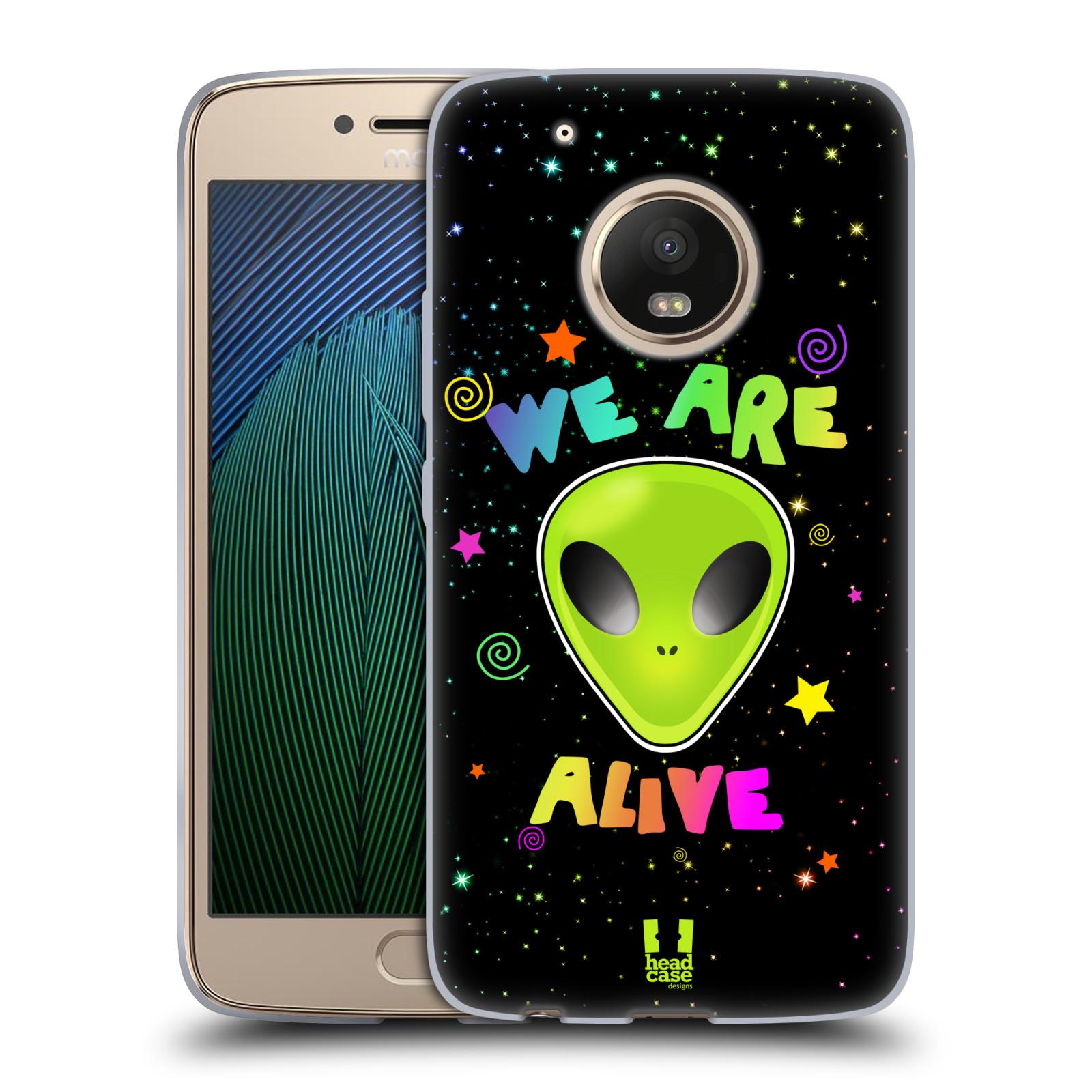 Silikonové pouzdro na mobil Lenovo Moto G5 Plus - Head Case ALIENS ALIVE