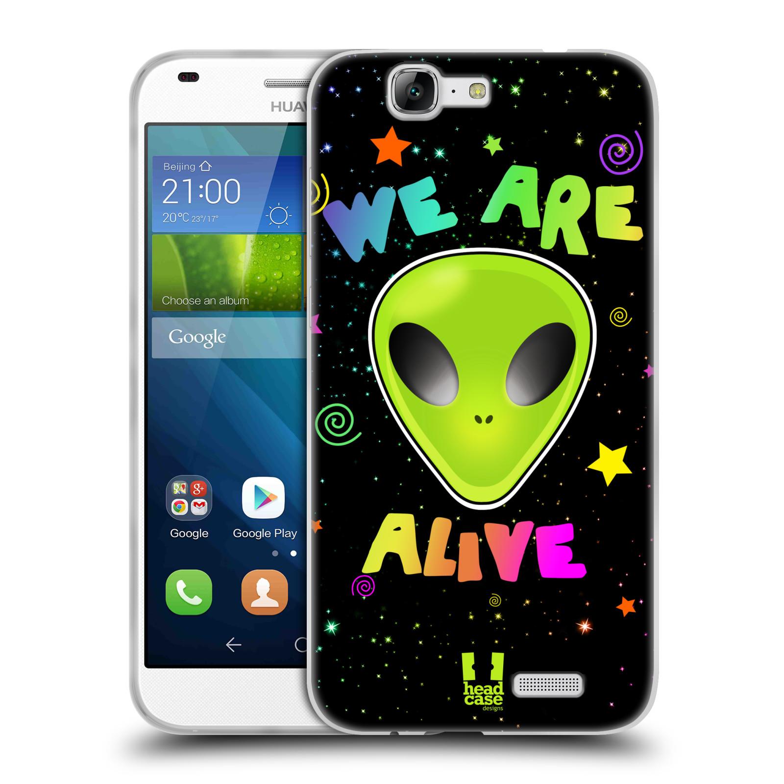 Silikonové pouzdro na mobil Huawei Ascend G7 HEAD CASE ALIENS ALIVE