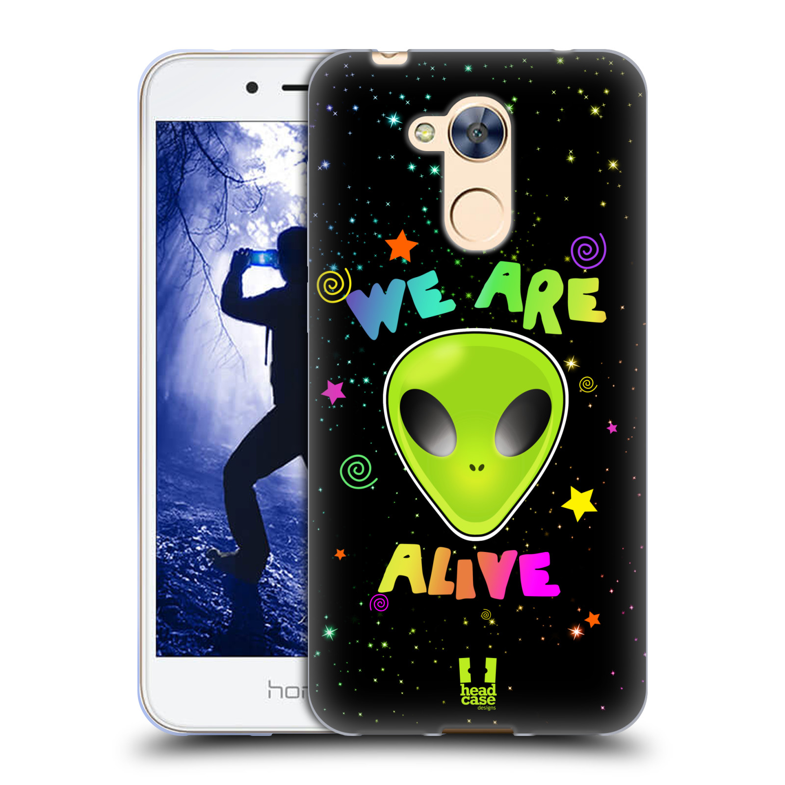 Silikonové pouzdro na mobil Honor 6A - Head Case - ALIENS ALIVE