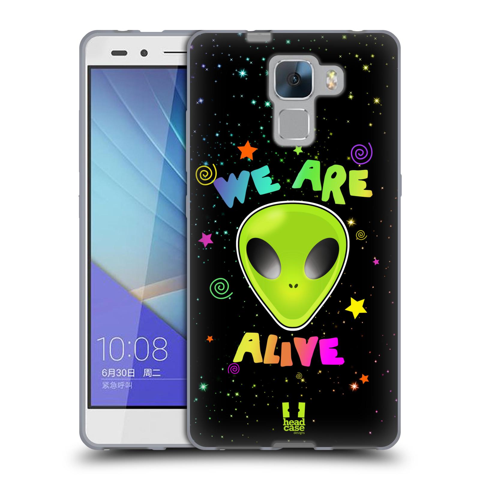 Silikonové pouzdro na mobil Honor 7 HEAD CASE ALIENS ALIVE