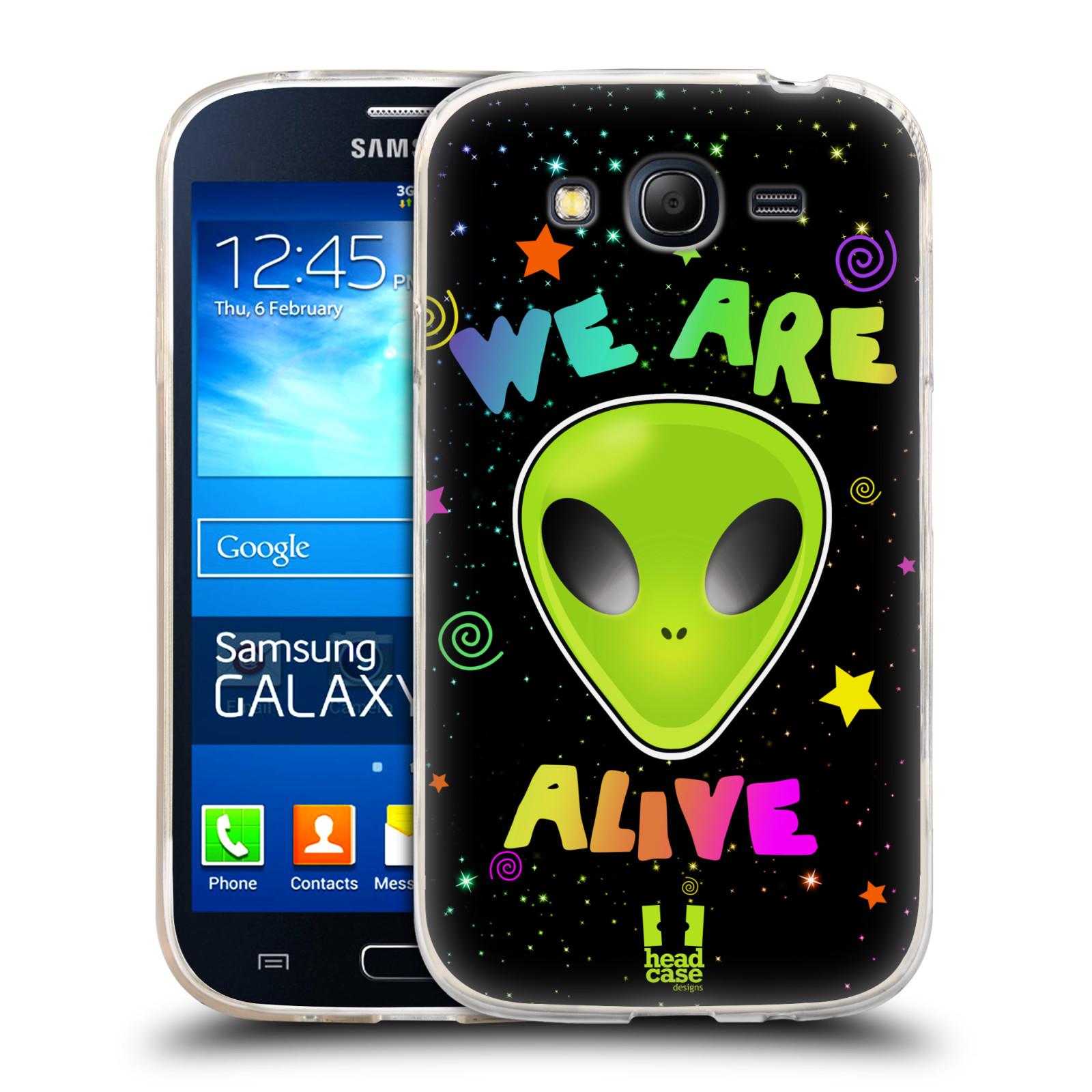Silikonové pouzdro na mobil Samsung Galaxy Grand Neo HEAD CASE ALIENS ALIVE