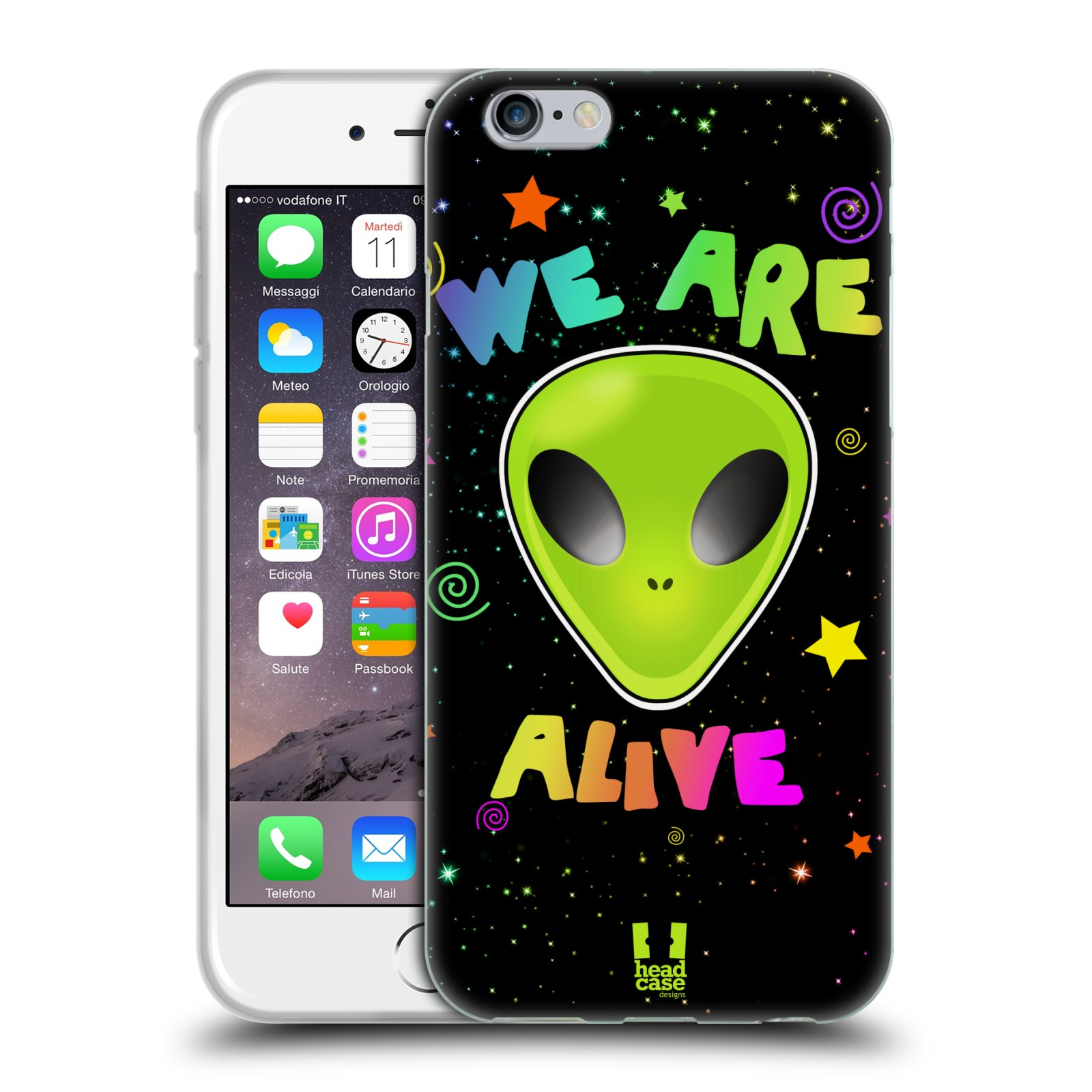 Silikonové pouzdro na mobil Apple iPhone 6 a 6S HEAD CASE ALIENS ALIVE
