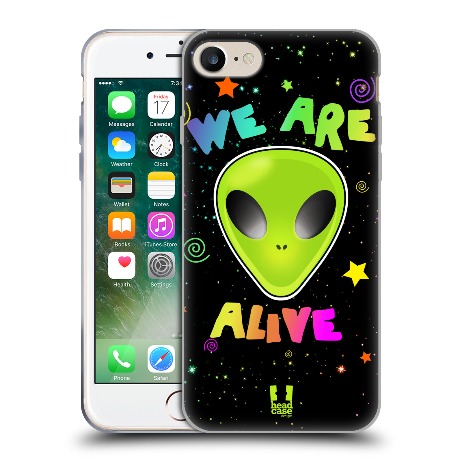 Silikonové pouzdro na mobil Apple iPhone 8 - Head Case - ALIENS ALIVE