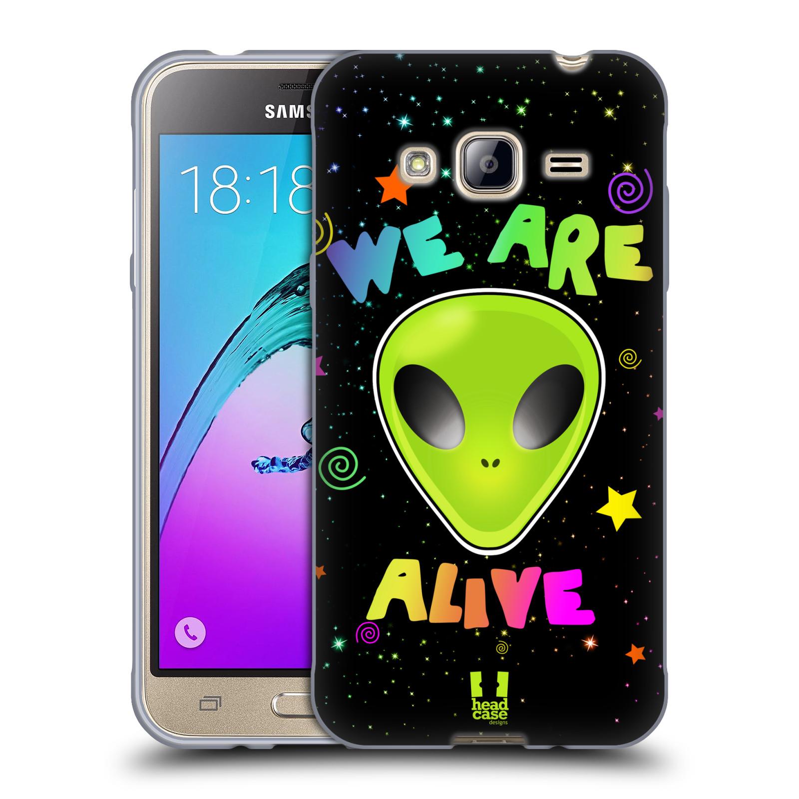 Silikonové pouzdro na mobil Samsung Galaxy J3 (2016) HEAD CASE ALIENS ALIVE