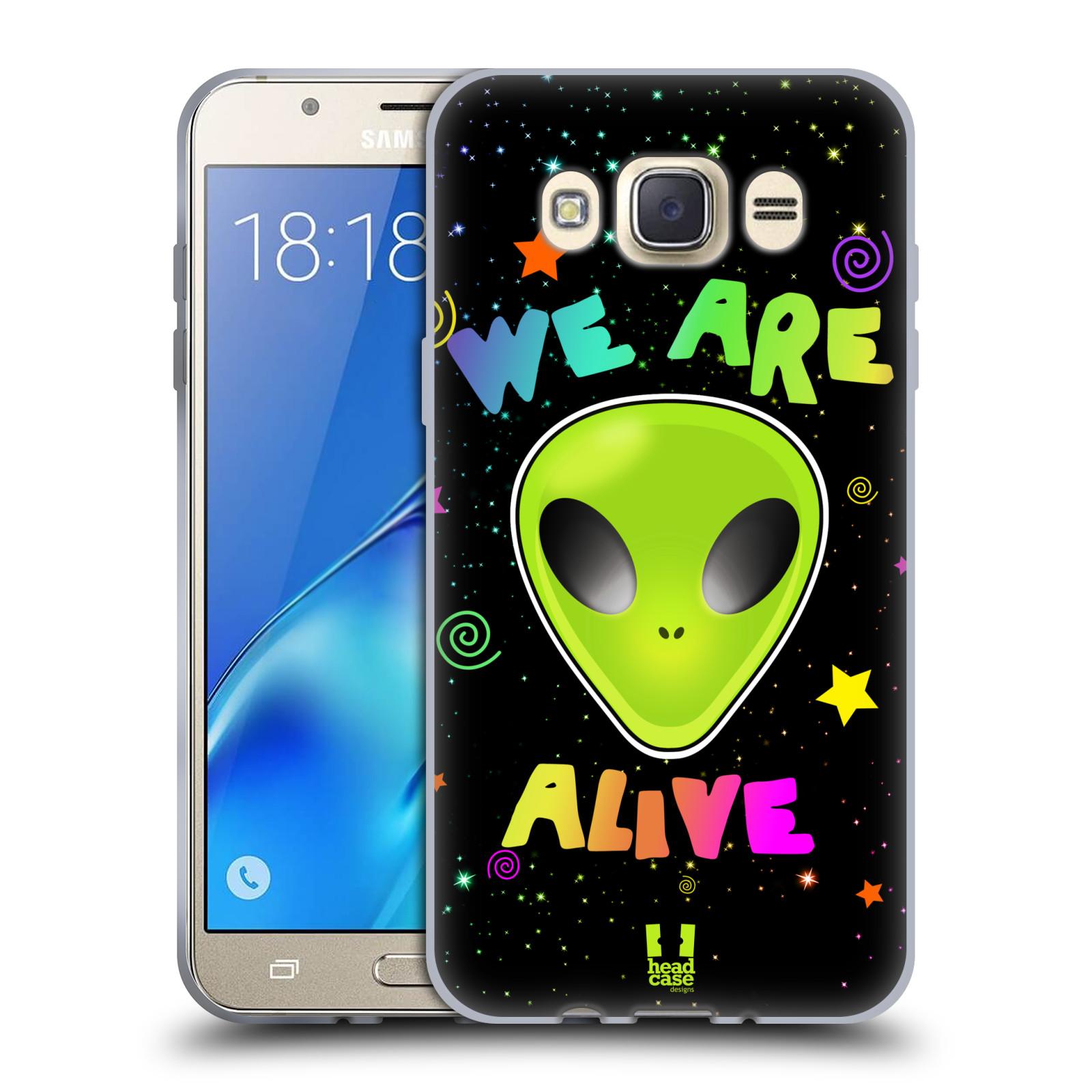 Silikonové pouzdro na mobil Samsung Galaxy J7 (2016) HEAD CASE ALIENS ALIVE
