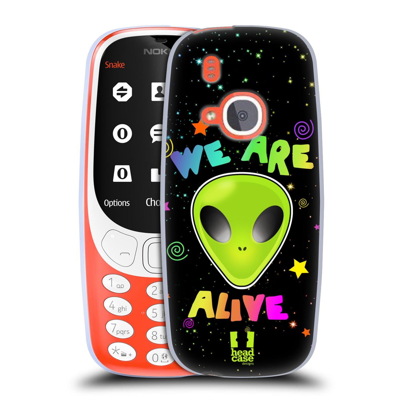 Silikonové pouzdro na mobil Nokia 3310 - Head Case - ALIENS ALIVE