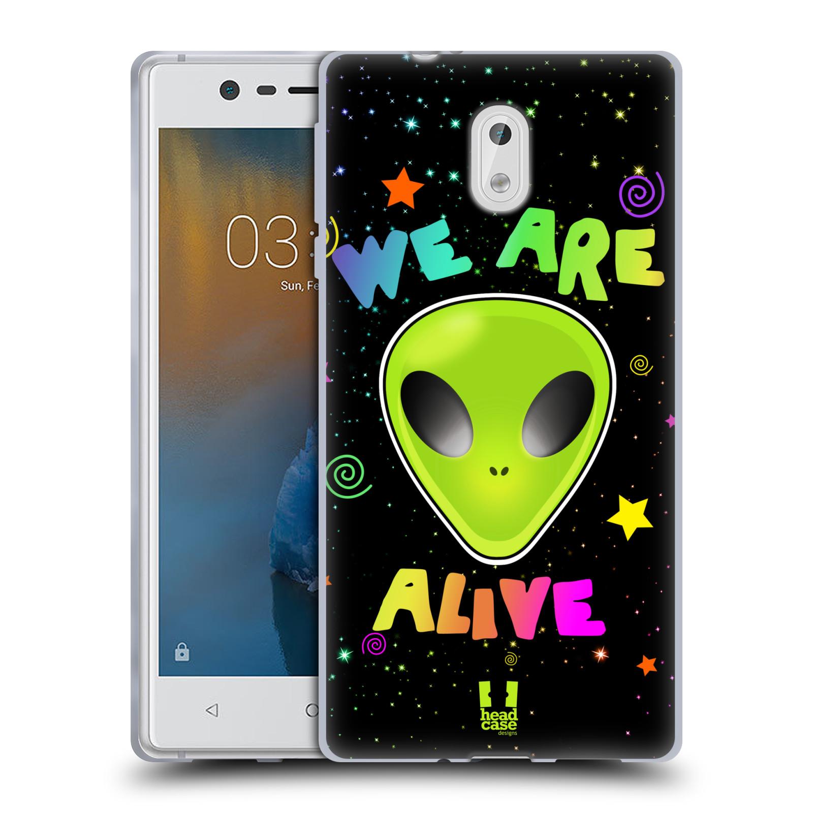 Silikonové pouzdro na mobil Nokia 3 Head Case - ALIENS ALIVE