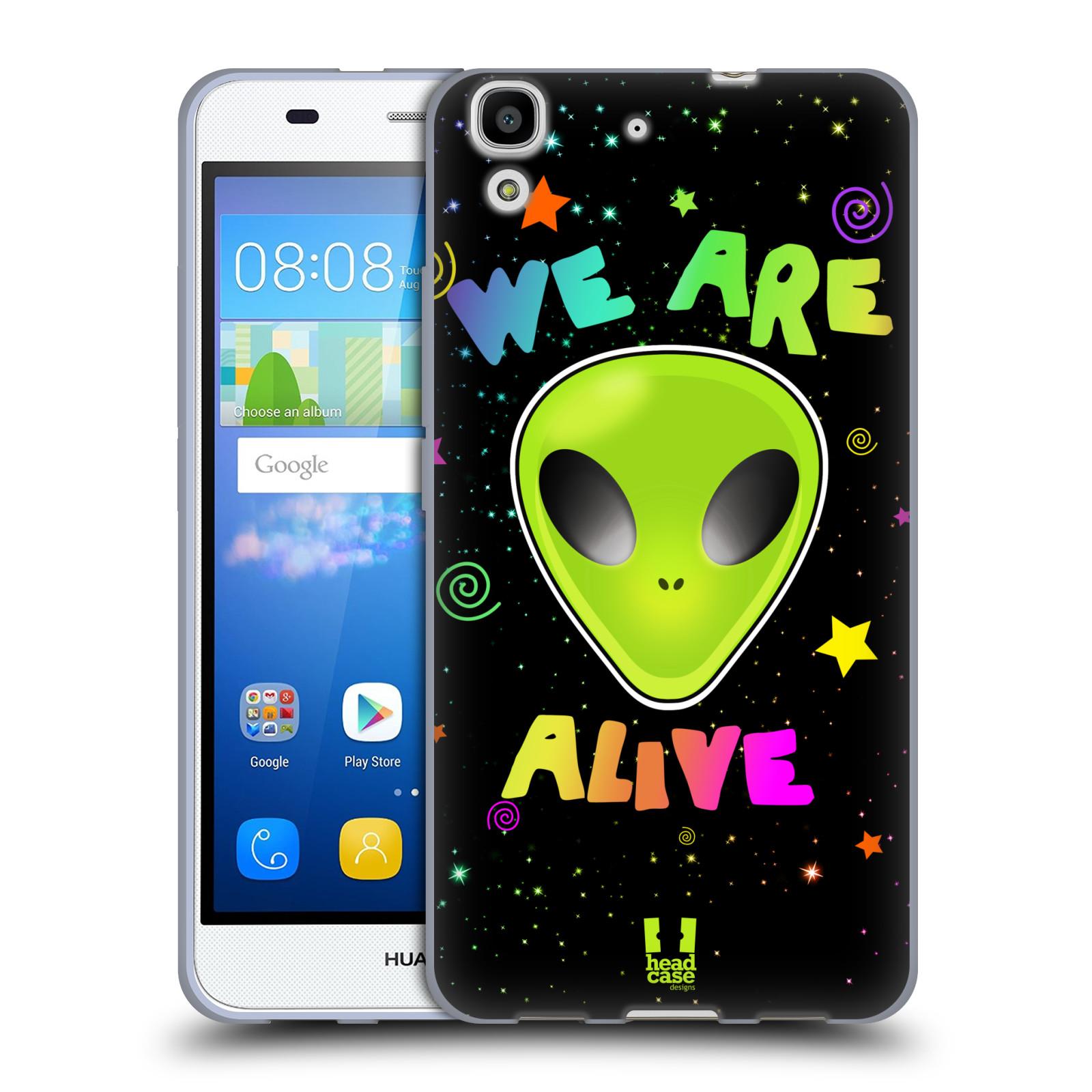 Silikonové pouzdro na mobil Huawei Y6 HEAD CASE ALIENS ALIVE