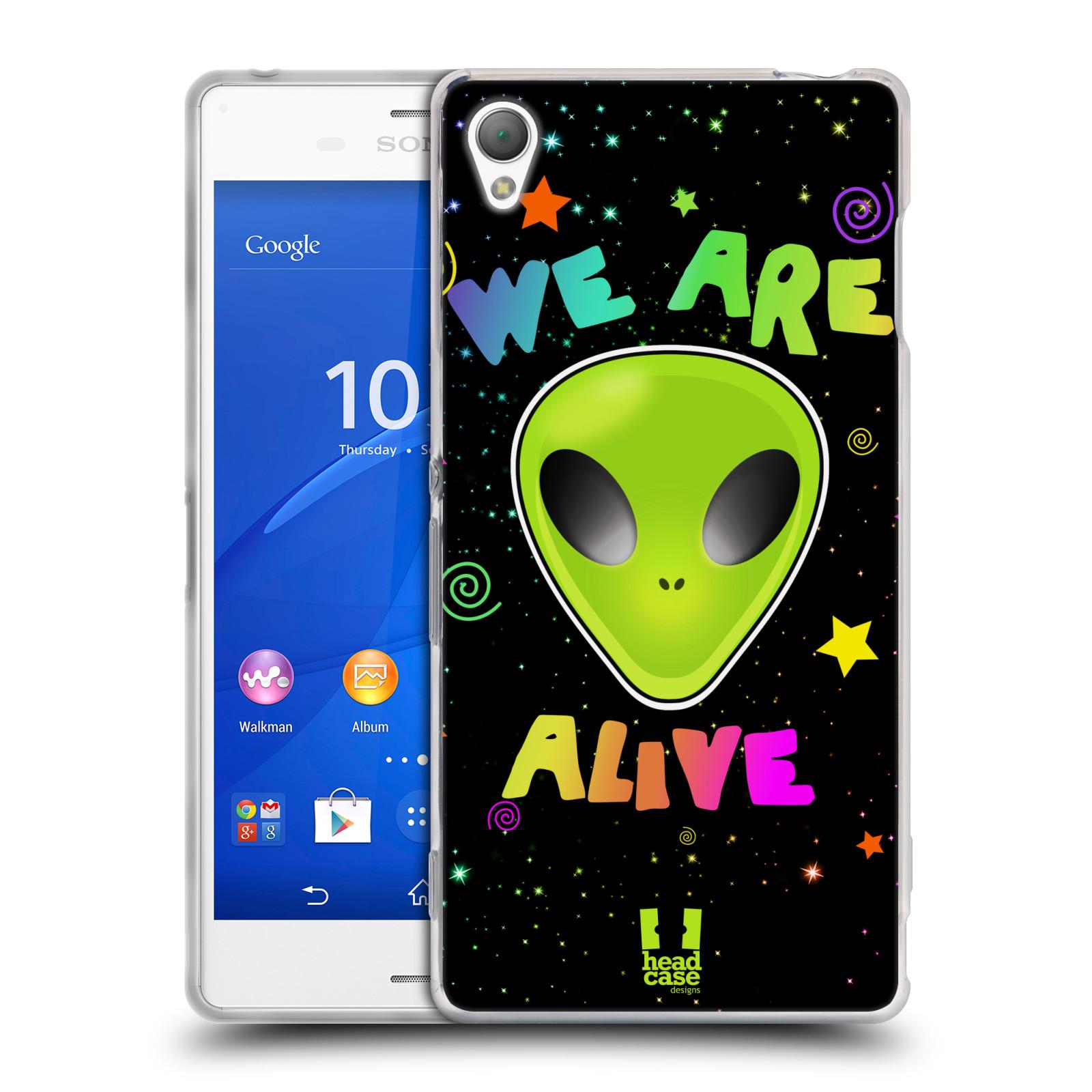 Silikonové pouzdro na mobil Sony Xperia Z3 D6603 HEAD CASE ALIENS ALIVE