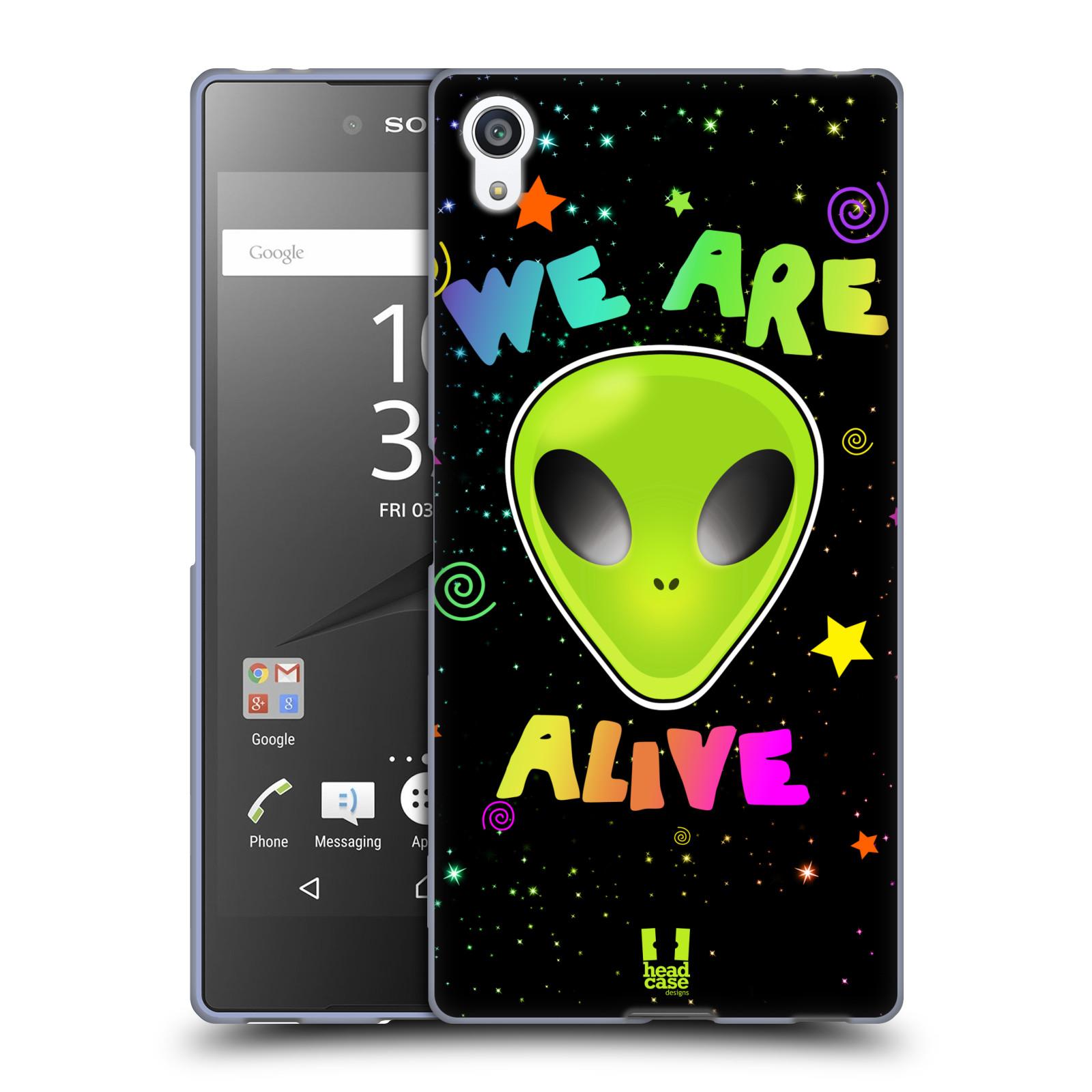 Silikonové pouzdro na mobil Sony Xperia Z5 Premium HEAD CASE ALIENS ALIVE