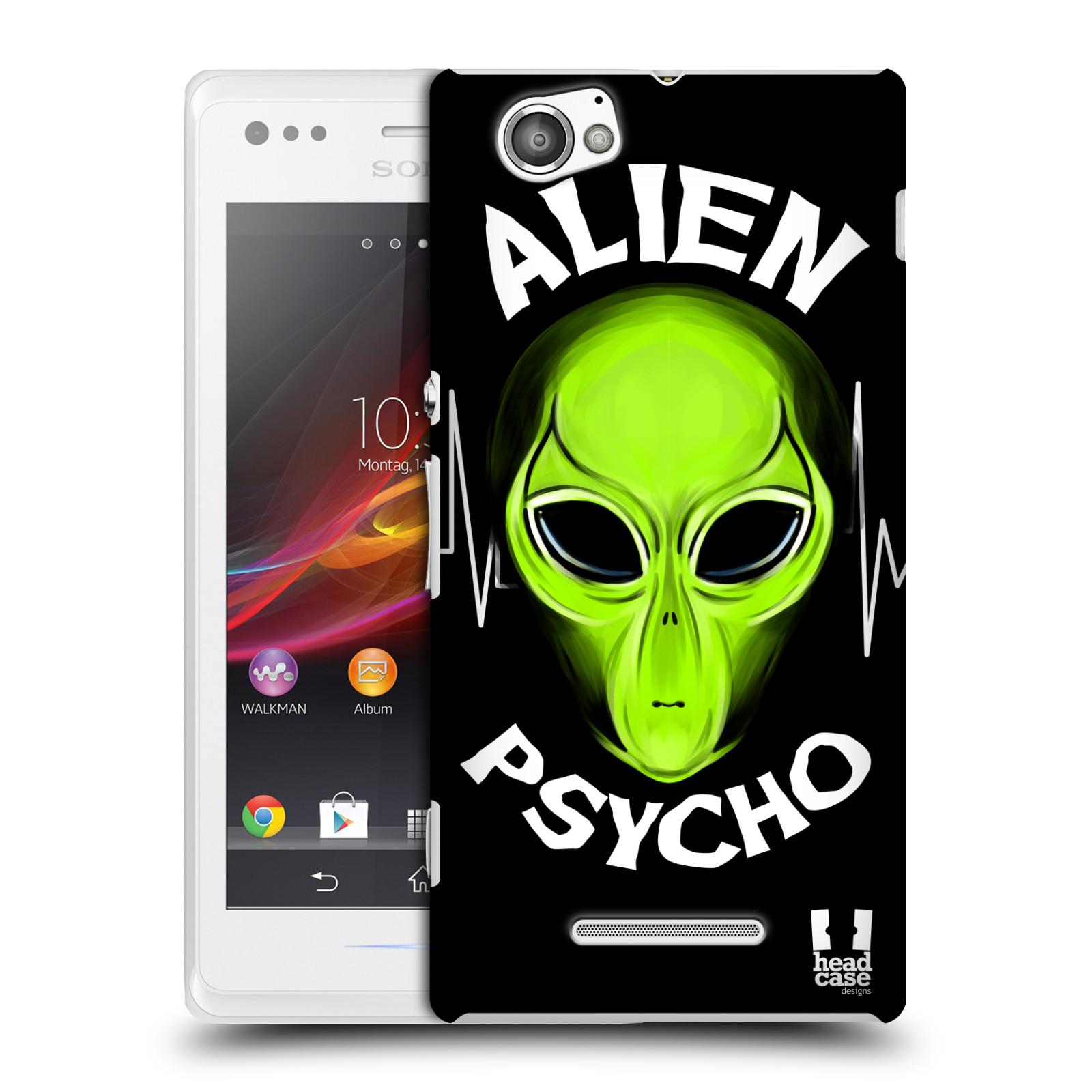 Plastové pouzdro na mobil Sony Xperia M C1905 HEAD CASE ALIENS PSYCHO