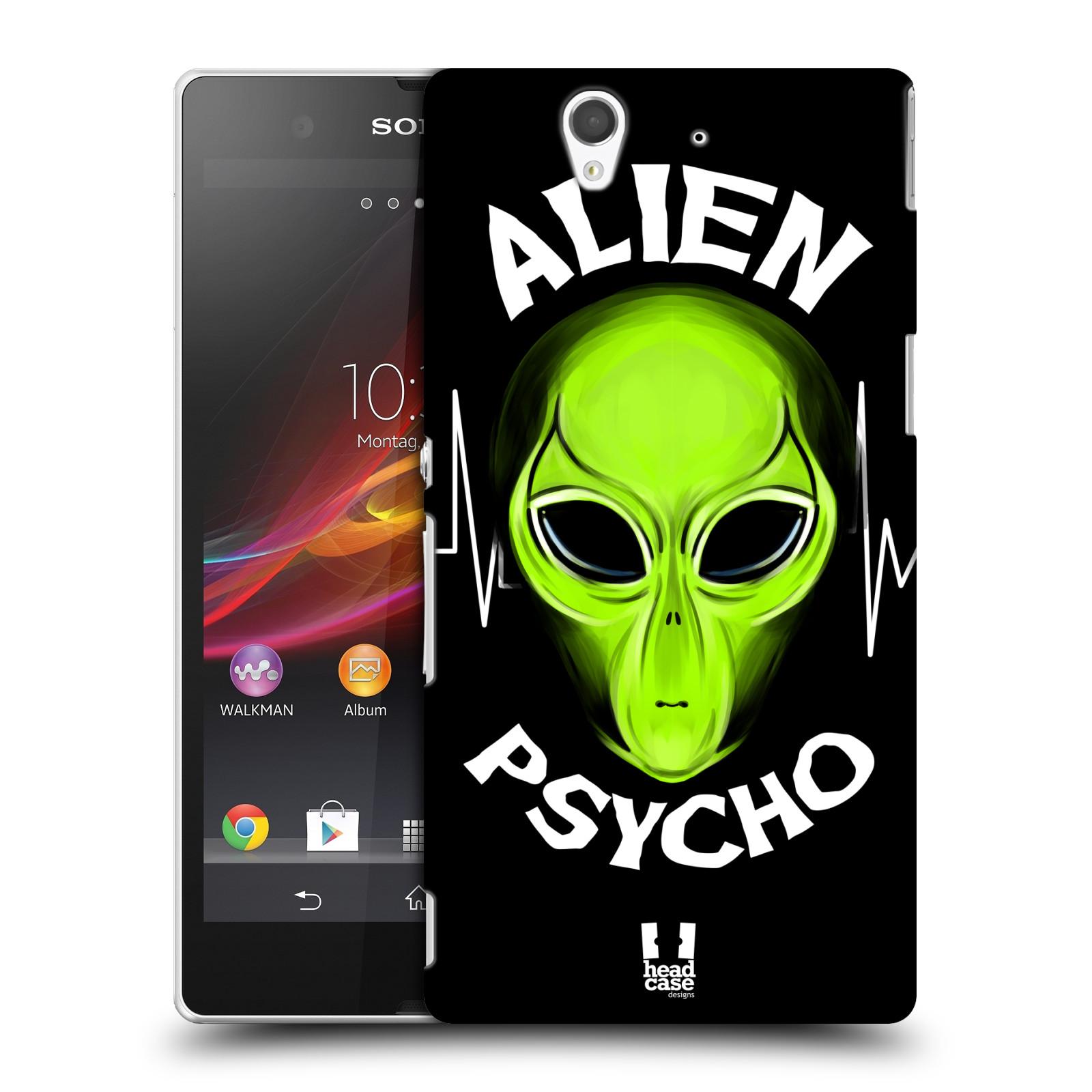 Plastové pouzdro na mobil Sony Xperia Z C6603 HEAD CASE ALIENS PSYCHO