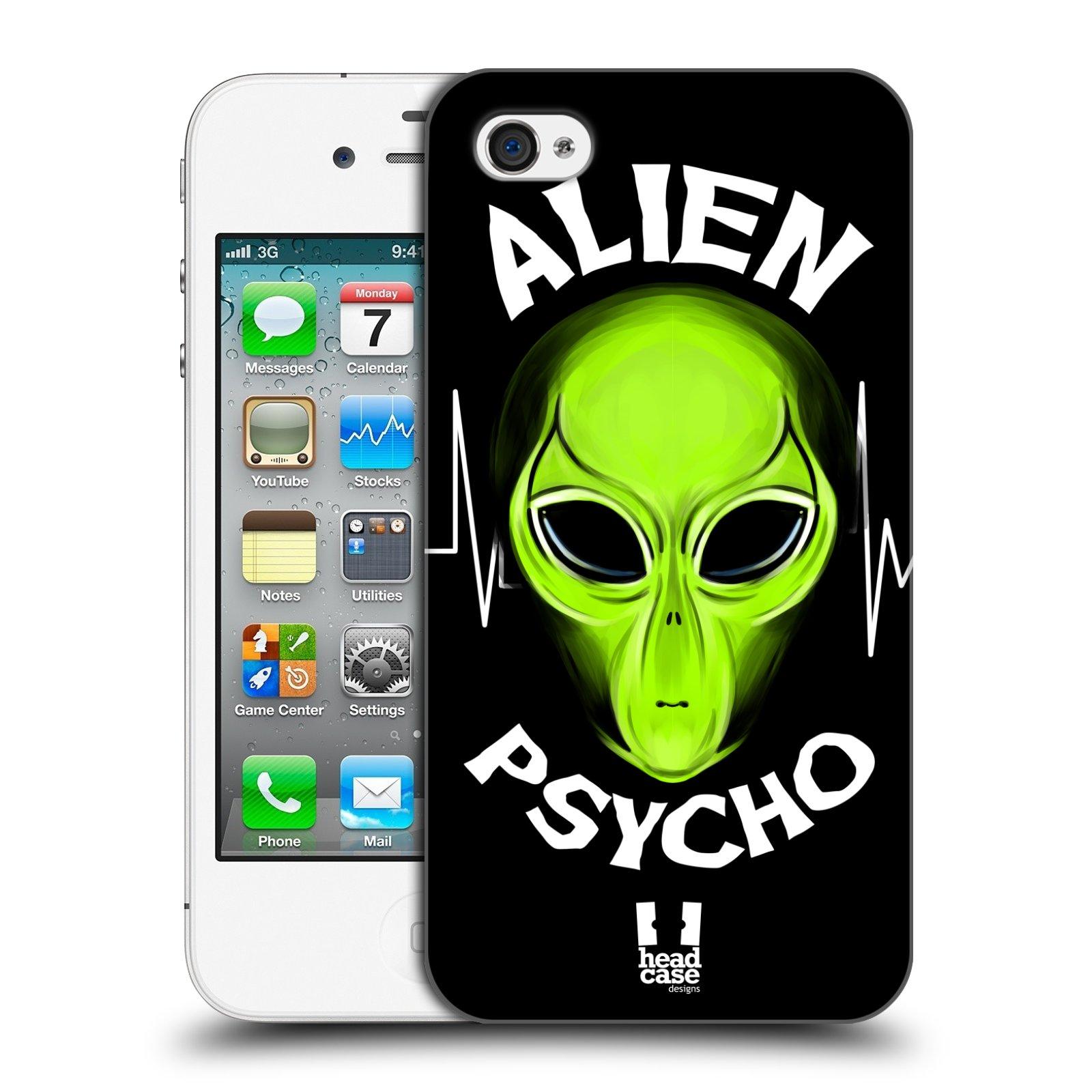 Plastové pouzdro na mobil Apple iPhone 4 a 4S HEAD CASE ALIENS PSYCHO