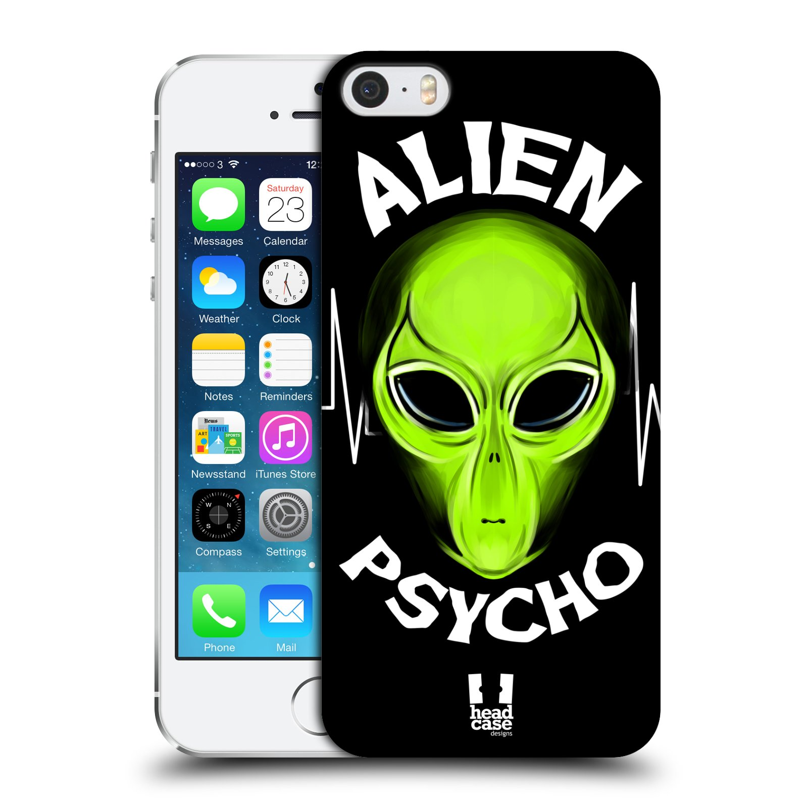 Plastové pouzdro na mobil Apple iPhone SE, 5 a 5S HEAD CASE ALIENS PSYCHO