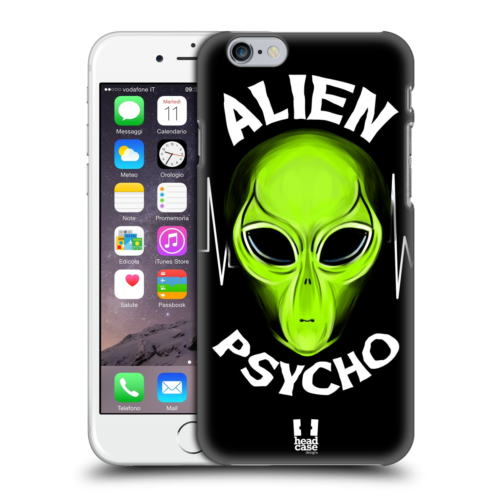 Plastové pouzdro na mobil Apple iPhone 6 a 6S HEAD CASE ALIENS PSYCHO