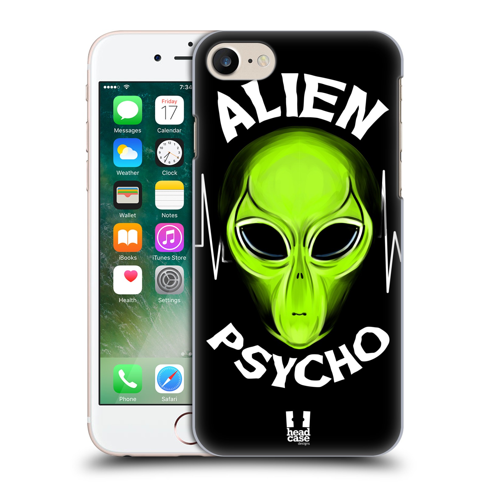 Plastové pouzdro na mobil Apple iPhone 7 HEAD CASE ALIENS PSYCHO