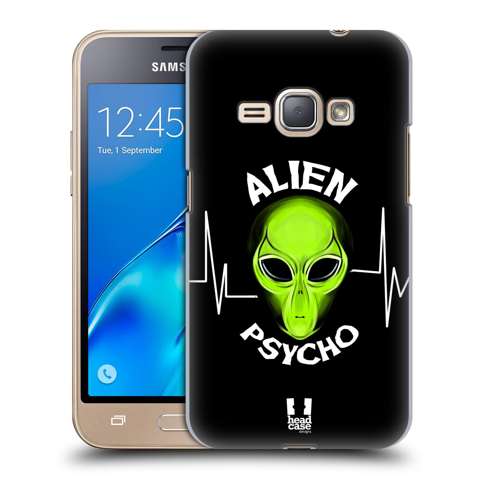 Plastové pouzdro na mobil Samsung Galaxy J1 (2016) HEAD CASE ALIENS PSYCHO