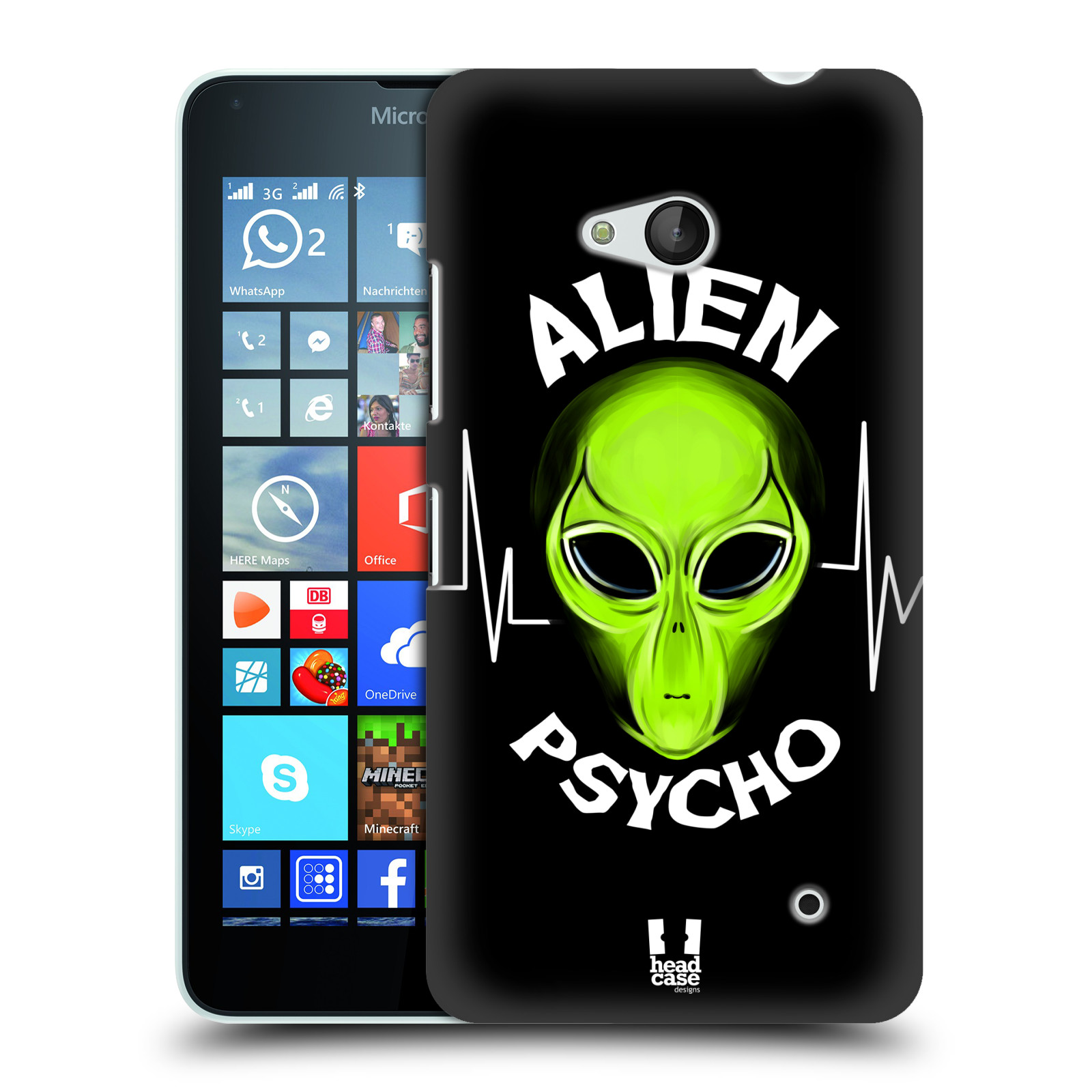 Plastové pouzdro na mobil Microsoft Lumia 640 HEAD CASE ALIENS PSYCHO