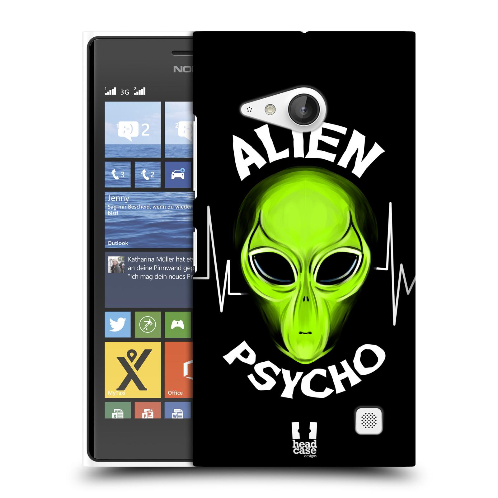 Plastové pouzdro na mobil Nokia Lumia 735 HEAD CASE ALIENS PSYCHO