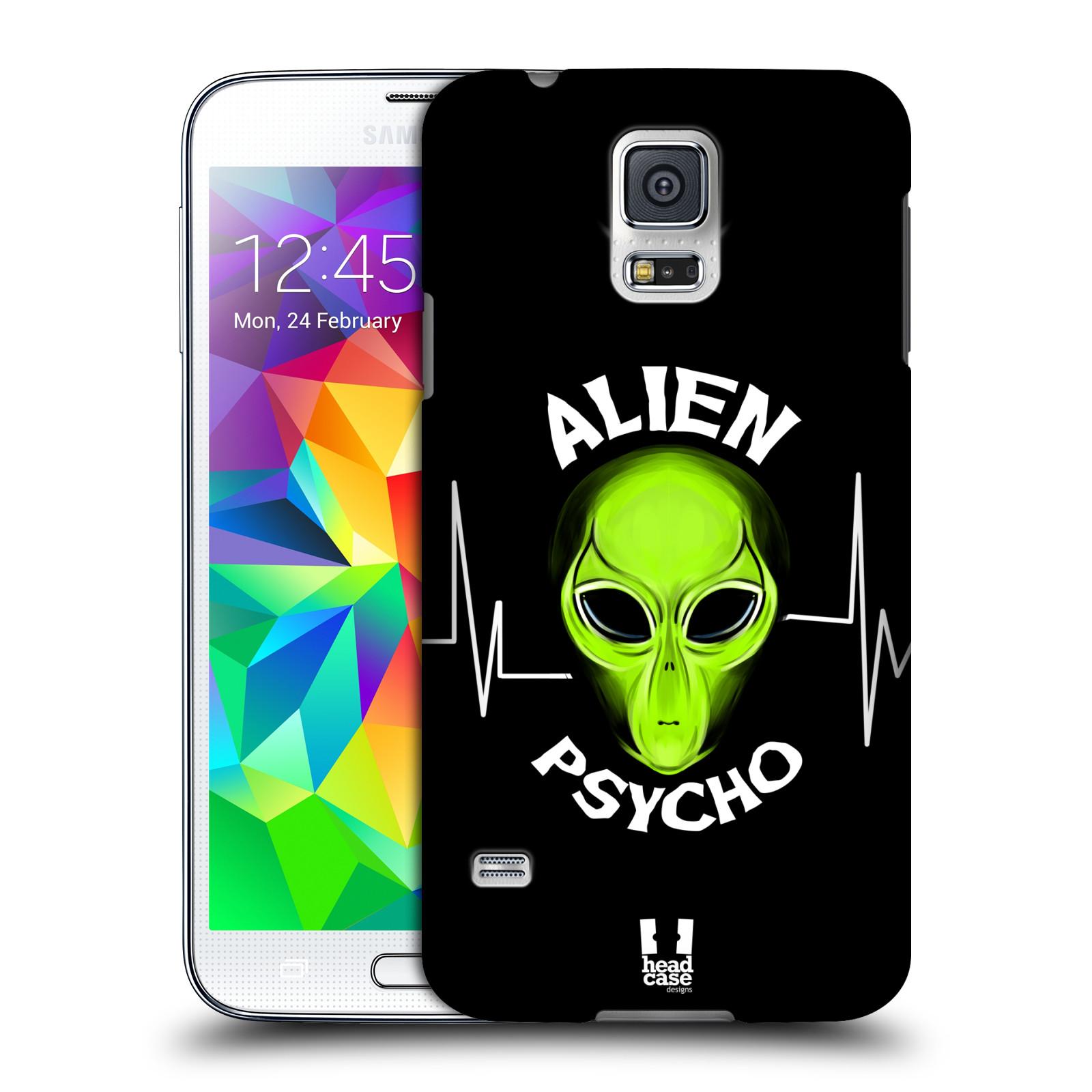 Plastové pouzdro na mobil Samsung Galaxy S5 HEAD CASE ALIENS PSYCHO
