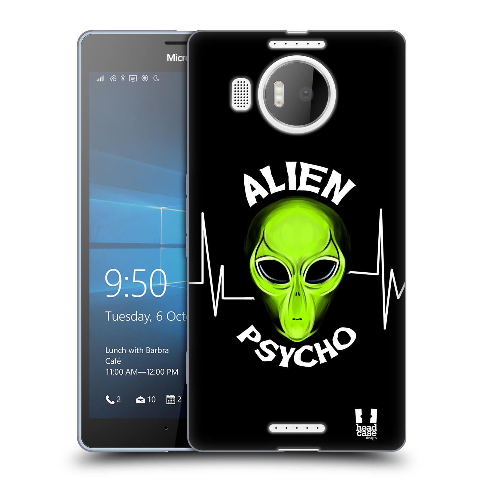 Silikonové pouzdro na mobil Microsoft Lumia 950 XL HEAD CASE ALIENS PSYCHO
