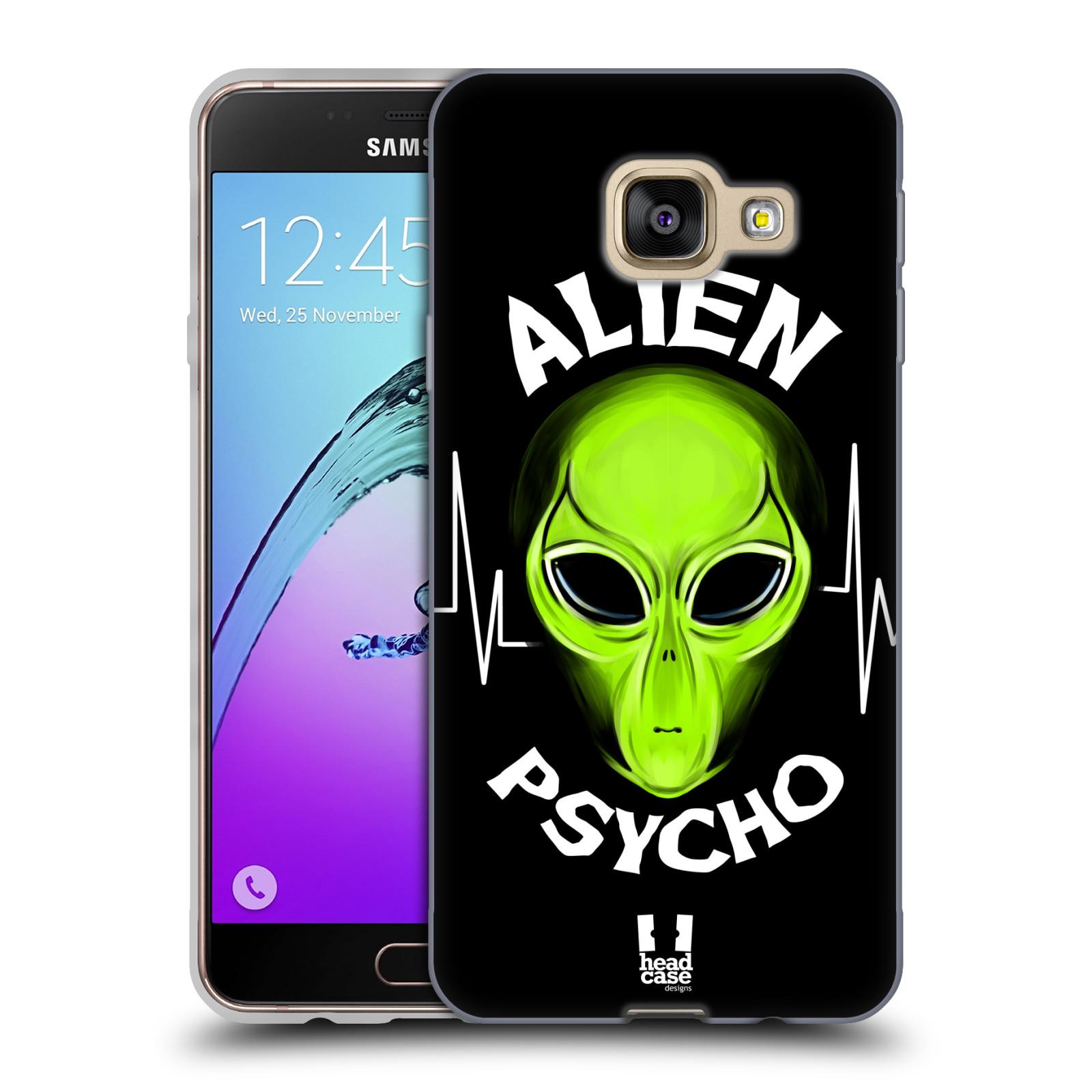 Silikonové pouzdro na mobil Samsung Galaxy A3 (2016) HEAD CASE ALIENS PSYCHO