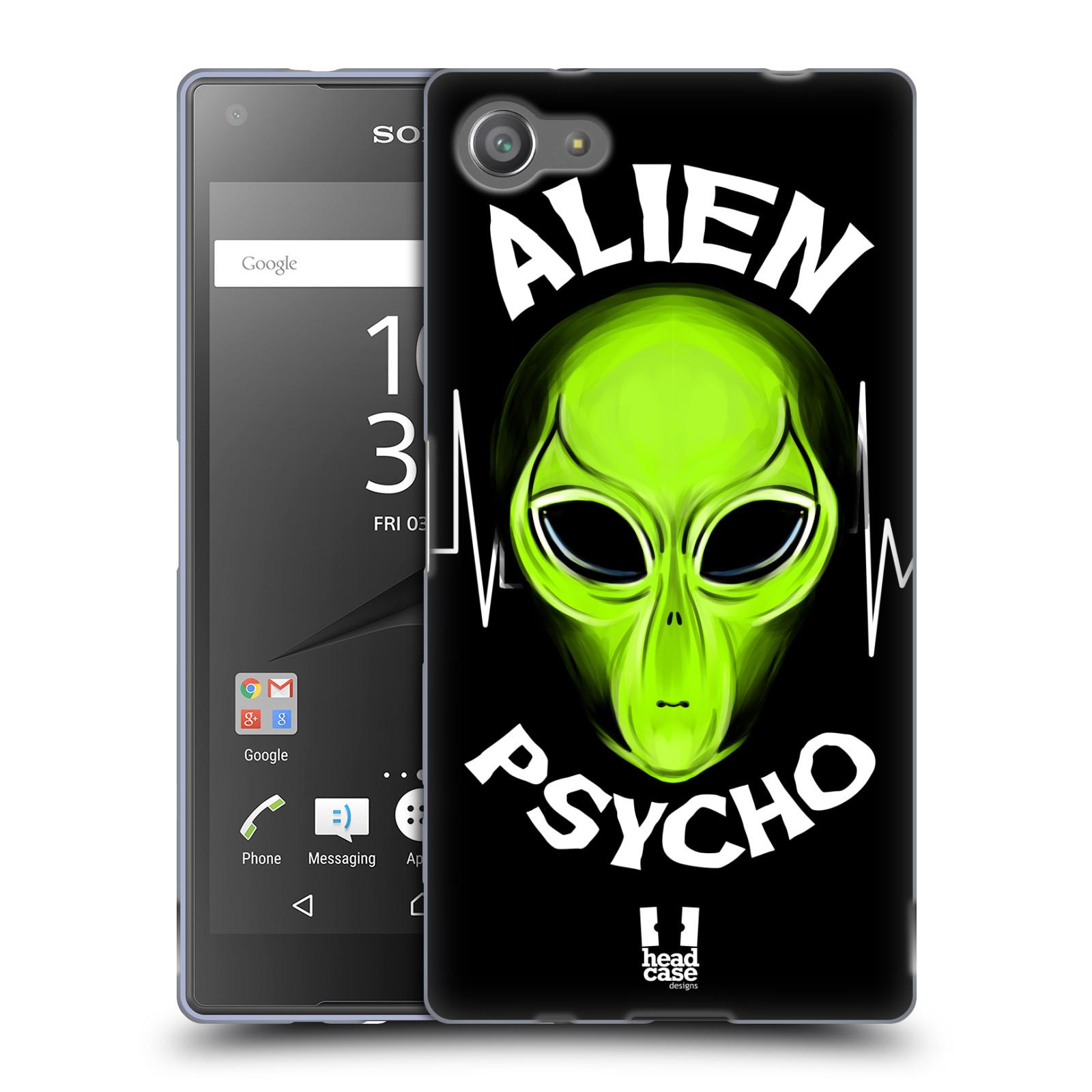 Silikonové pouzdro na mobil Sony Xperia Z5 Compact HEAD CASE ALIENS PSYCHO
