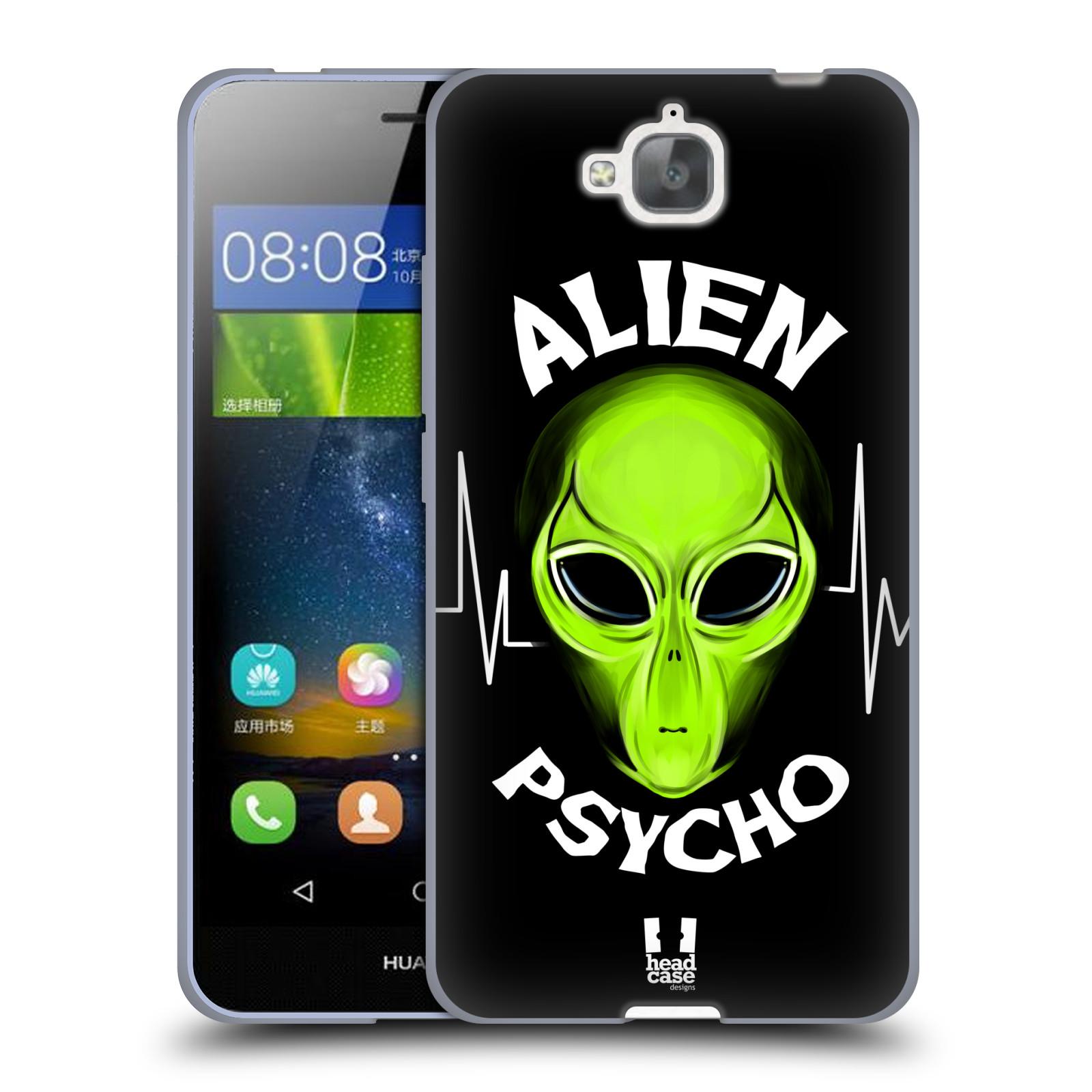 Silikonové pouzdro na mobil Huawei Y6 Pro Dual Sim HEAD CASE ALIENS PSYCHO