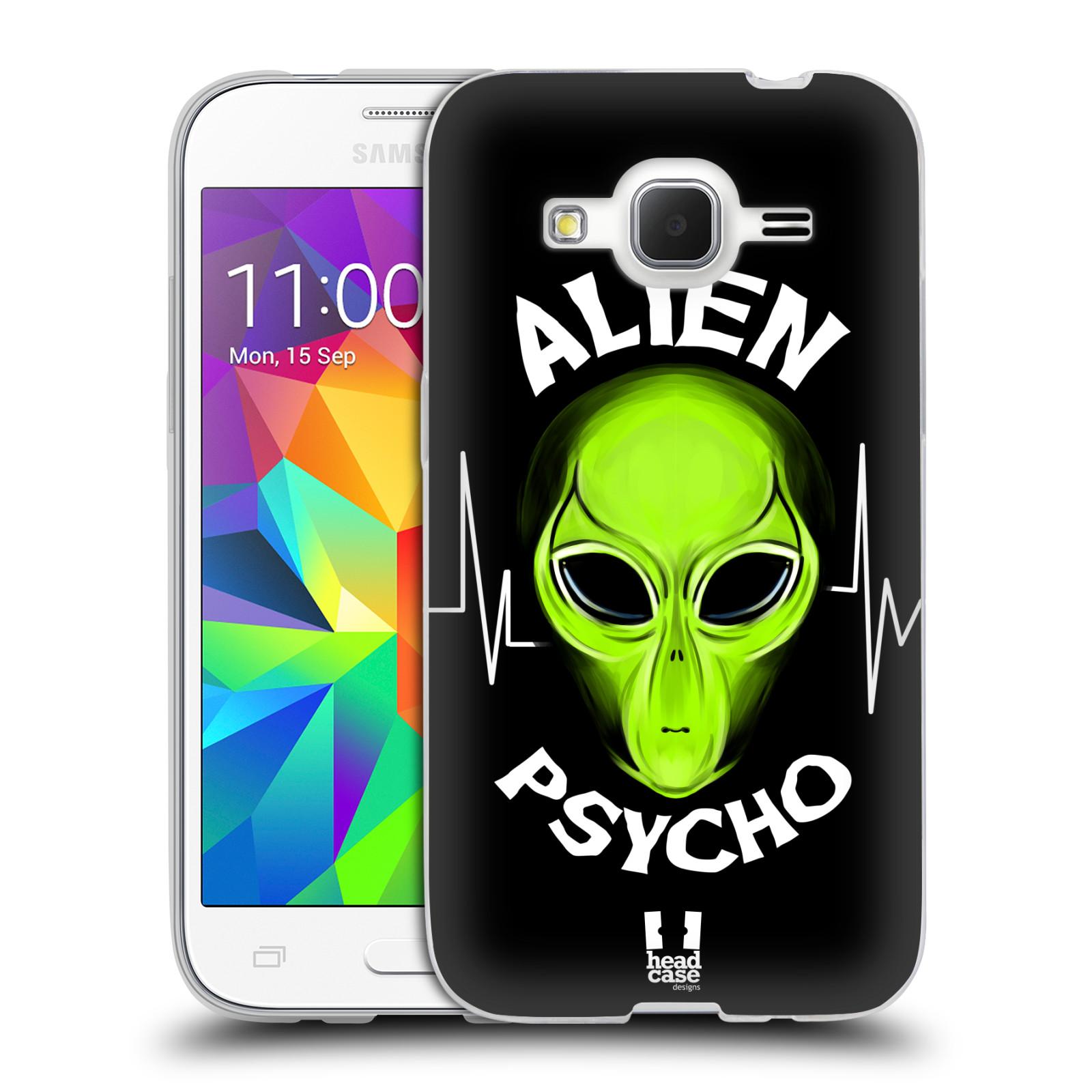 Silikonové pouzdro na mobil Samsung Galaxy Core Prime LTE HEAD CASE ALIENS PSYCHO