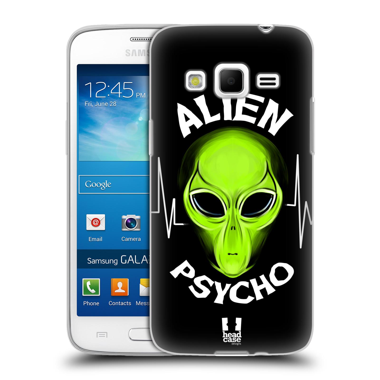Silikonové pouzdro na mobil Samsung Galaxy Express 2 HEAD CASE ALIENS PSYCHO (Silikonový kryt či obal na mobilní telefon Samsung Galaxy Express 2 SM-G3815)